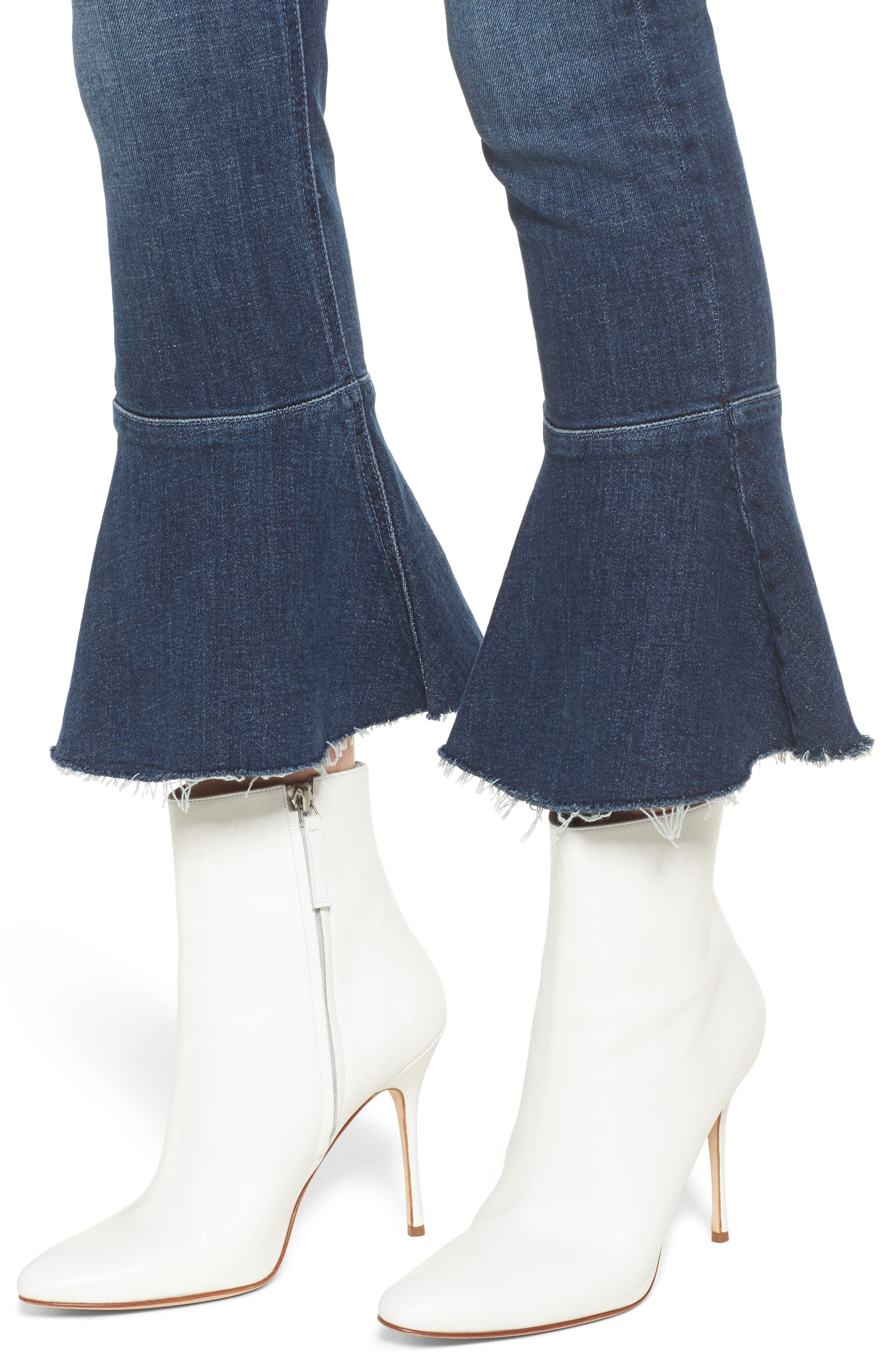 The Cha Cha Fray Flare Crop Jeans,                             Alternate thumbnail 4, color,                             GIRL CRUSH