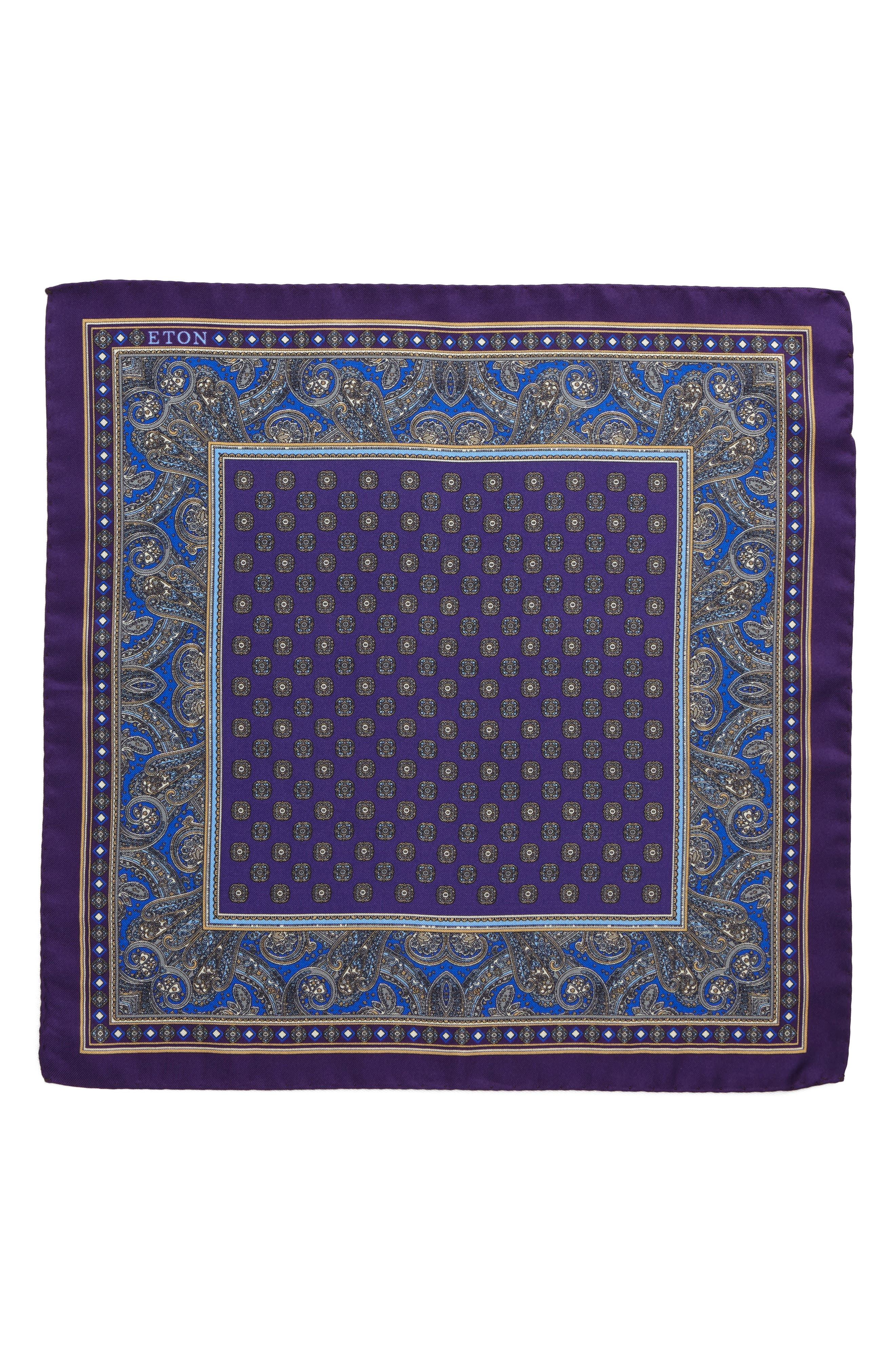 Paisley Silk Pocket Square,                             Alternate thumbnail 2, color,                             500