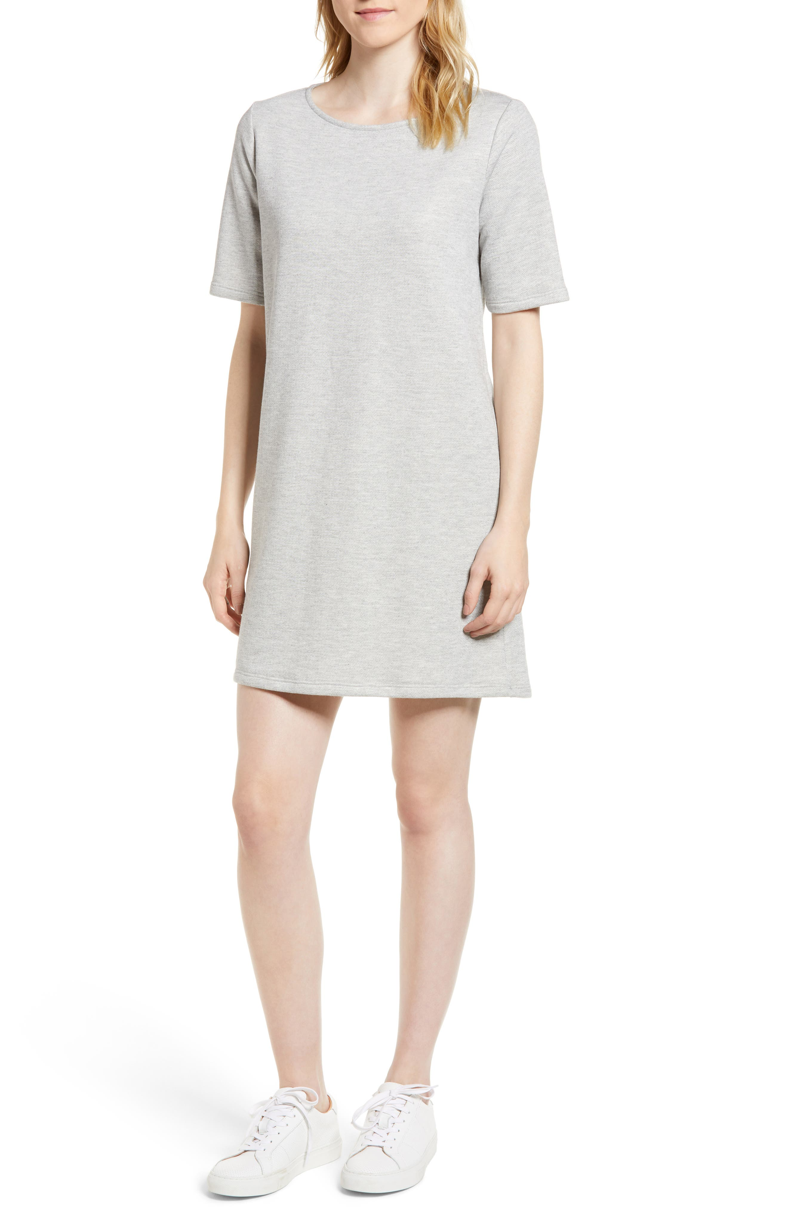 Pleat Back Minidress,                         Main,                         color, 020