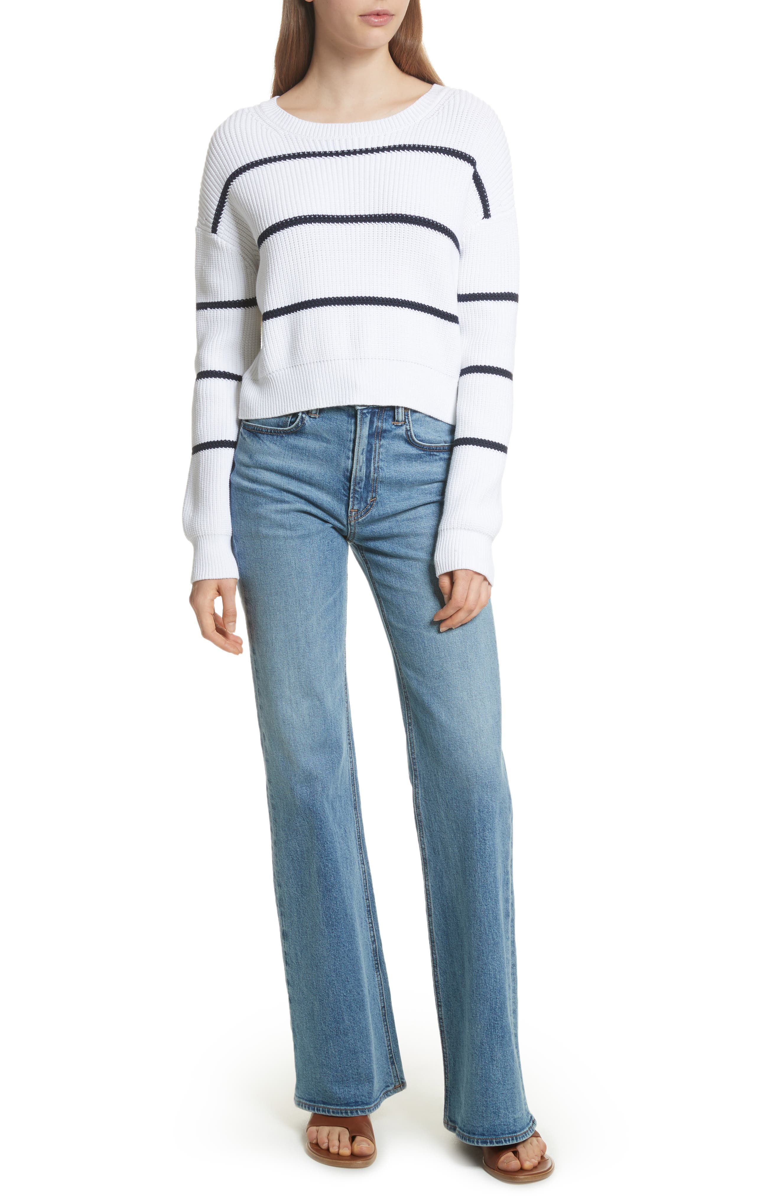 Wide Flare Leg Jeans,                             Alternate thumbnail 8, color,                             482