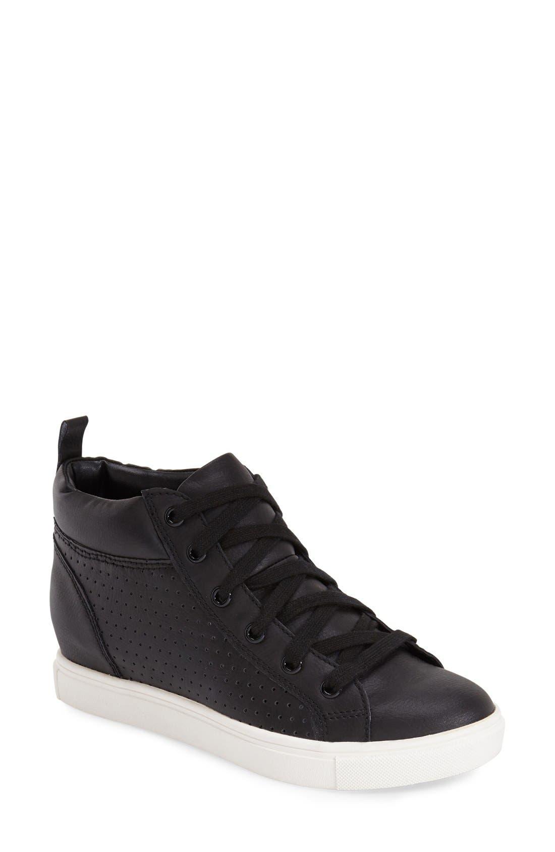 'Latte' Hidden Wedge Sneaker,                             Main thumbnail 1, color,                             005