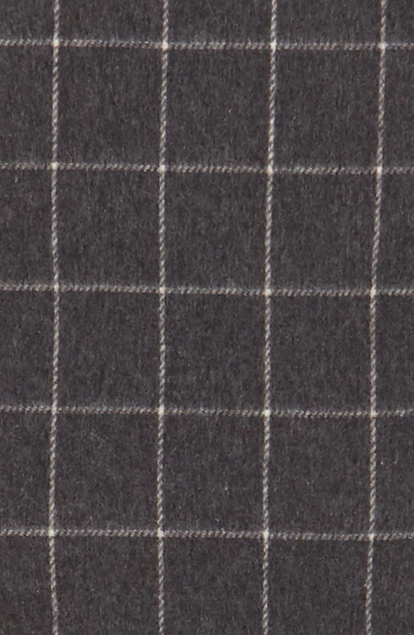 Reversible Wool Blend Plaid Scarf,                             Alternate thumbnail 5, color,