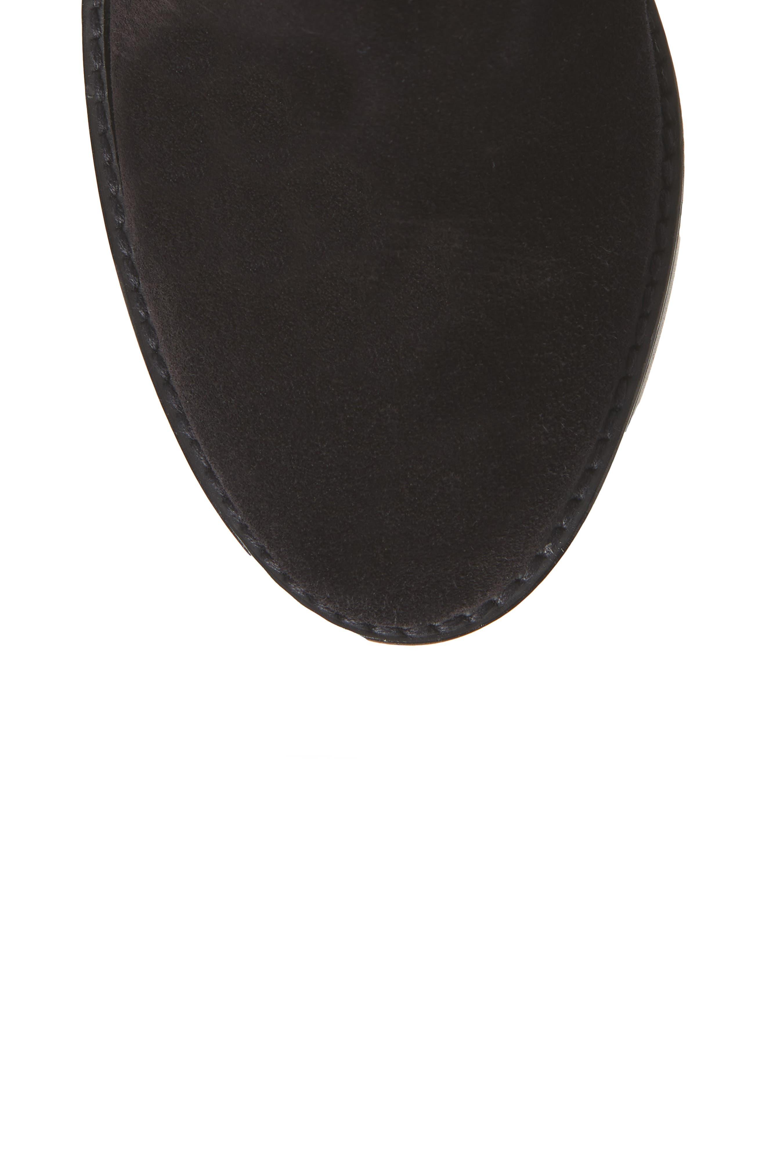 Morrison Knee High Boot,                             Alternate thumbnail 5, color,                             BLACK FEZ