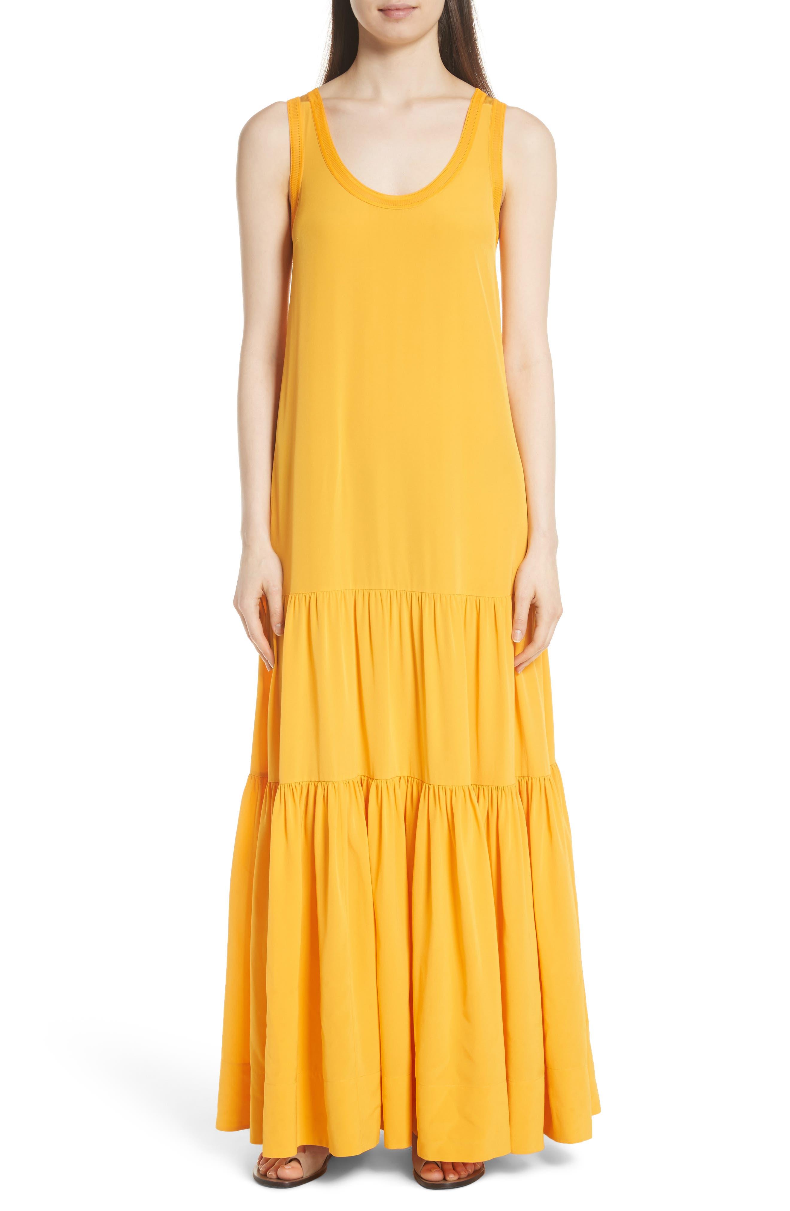 Hazel Silk Tank Dress,                             Alternate thumbnail 5, color,