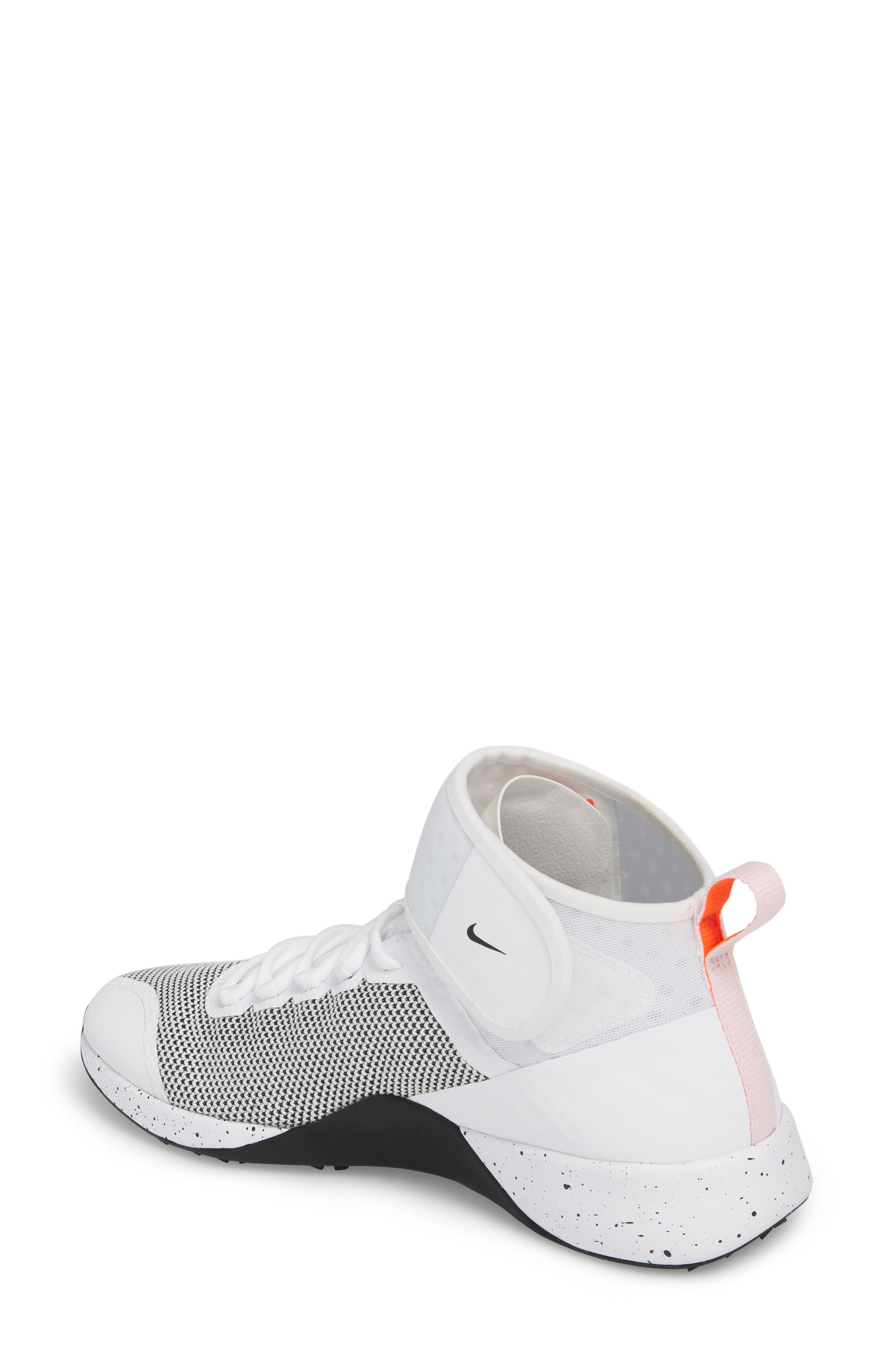 NikeLab Air Zoom Strong 2 Training Shoe,                             Alternate thumbnail 2, color,                             WHITE/ BLACK/ TOTAL CRIMSON