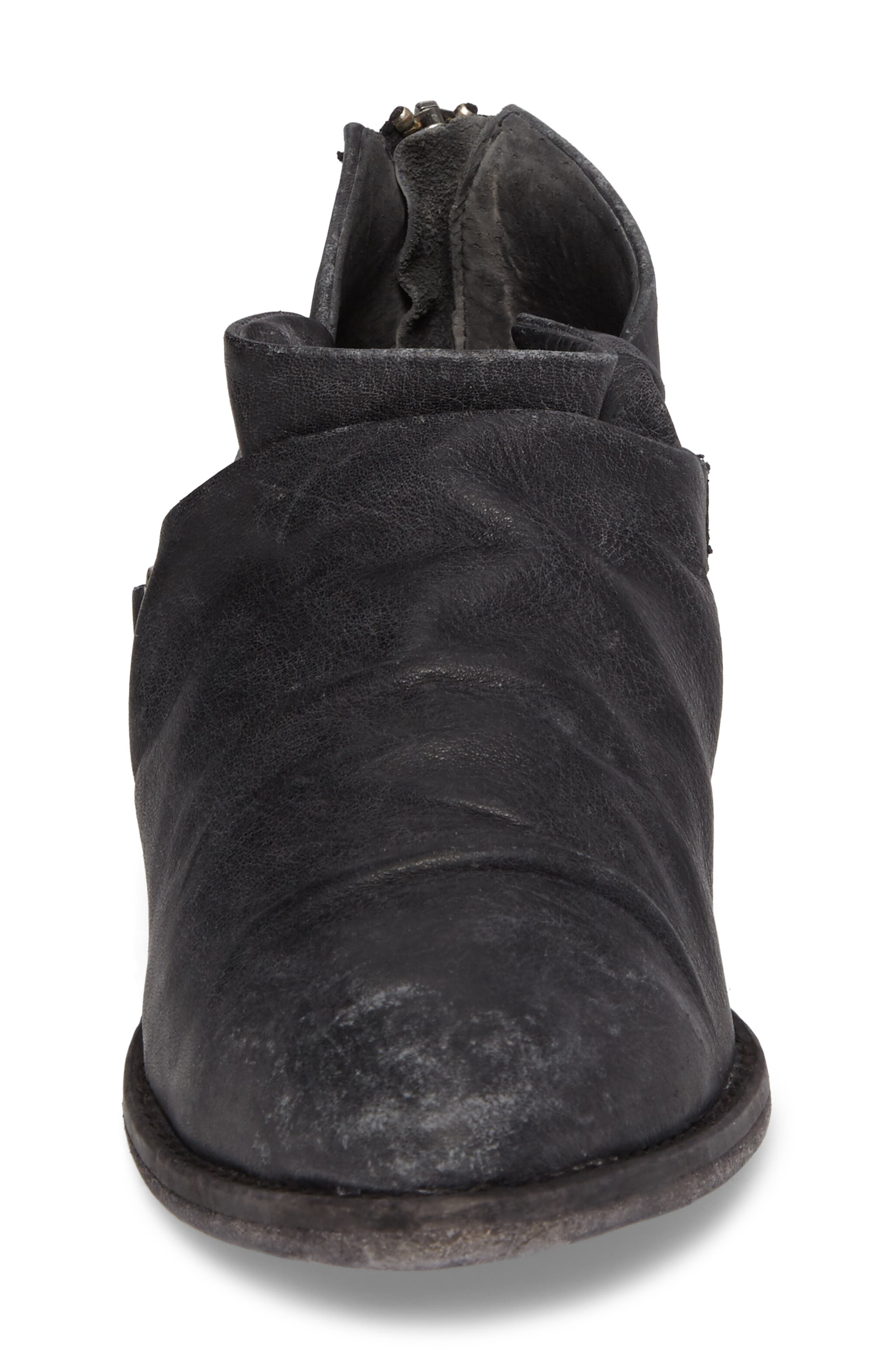 Wills Ruched Bootie,                             Alternate thumbnail 4, color,                             001