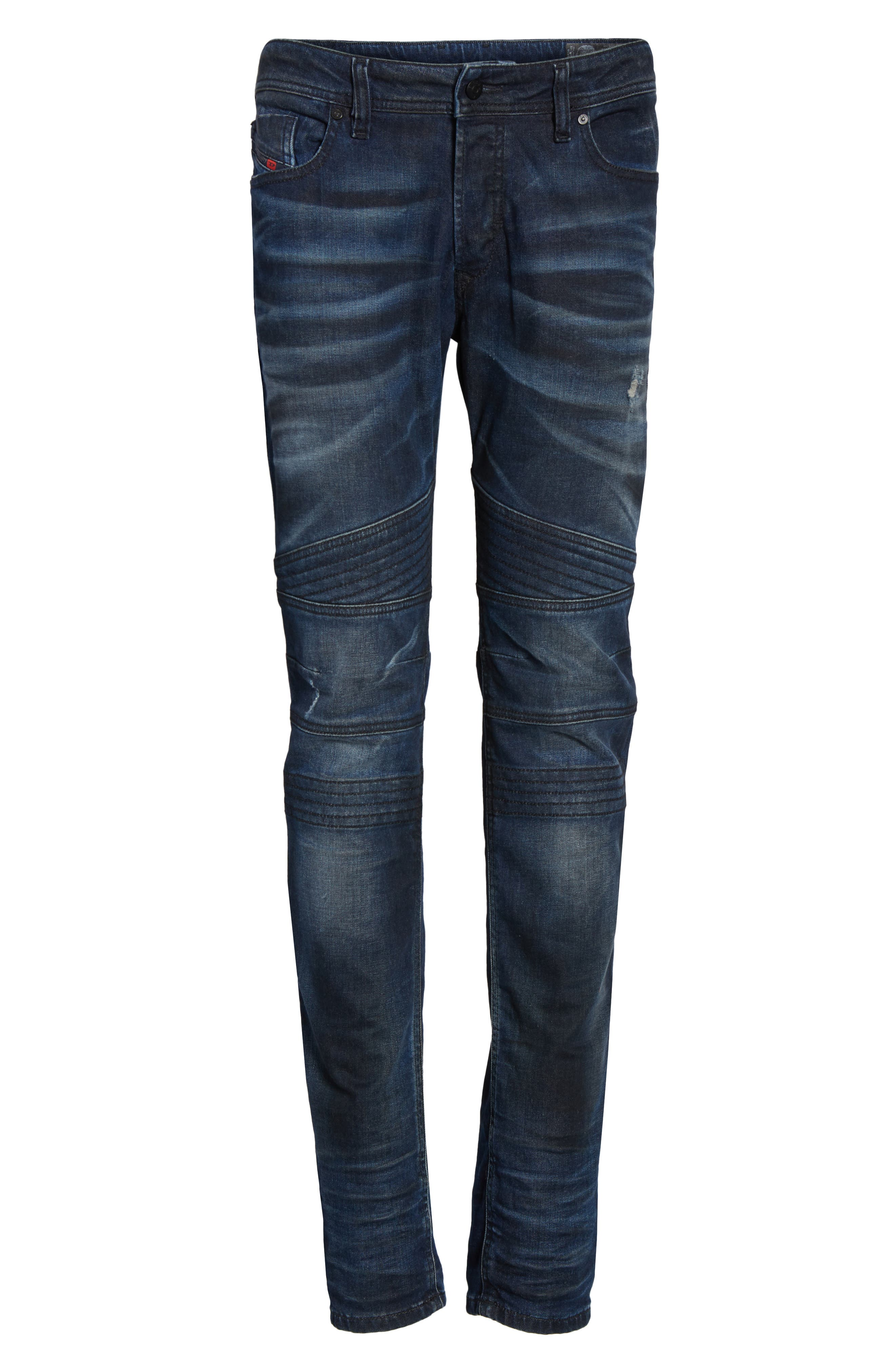 Fourk Skinny Fit Jeans,                             Alternate thumbnail 6, color,                             400
