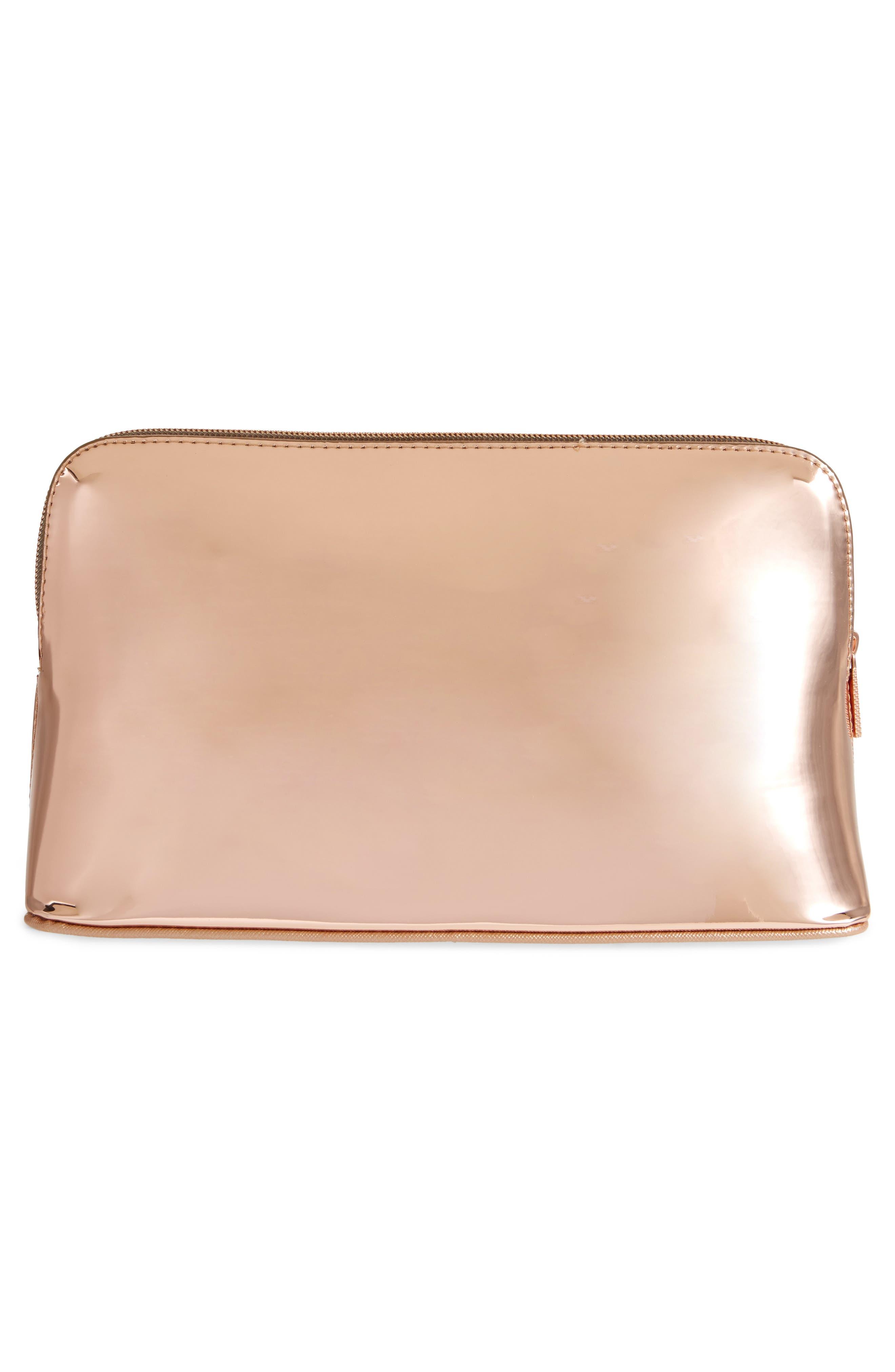 Lauran Mirrored Wash Bag,                             Alternate thumbnail 4, color,