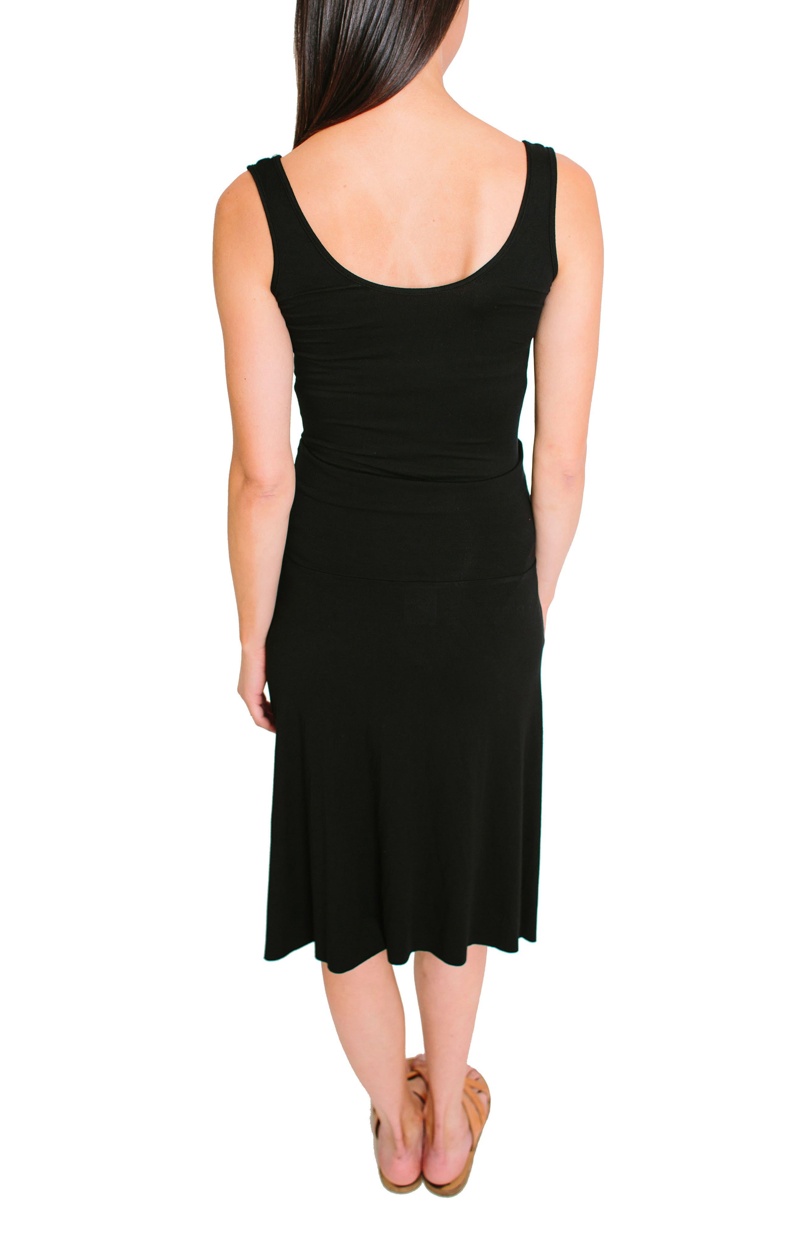NOM Nola Maternity Skirt,                             Alternate thumbnail 2, color,                             BLACK