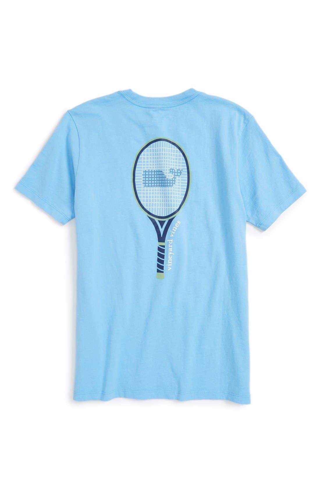 VINEYARD VINES,                             'Tennis Racquet' Graphic T-Shirt,                             Alternate thumbnail 2, color,                             484