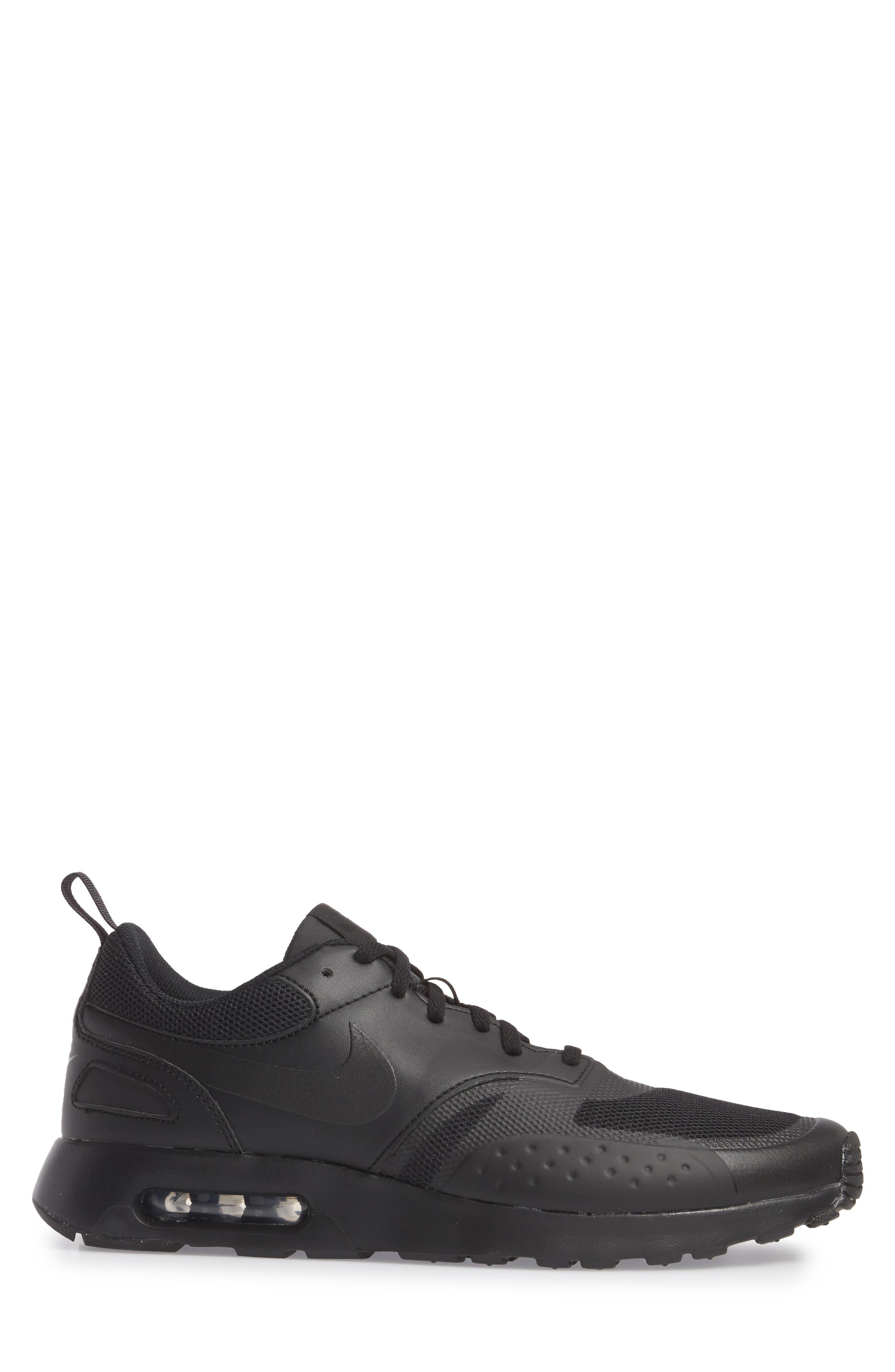 Air Max Vision Sneaker,                             Alternate thumbnail 3, color,                             BLACK/ BLACK