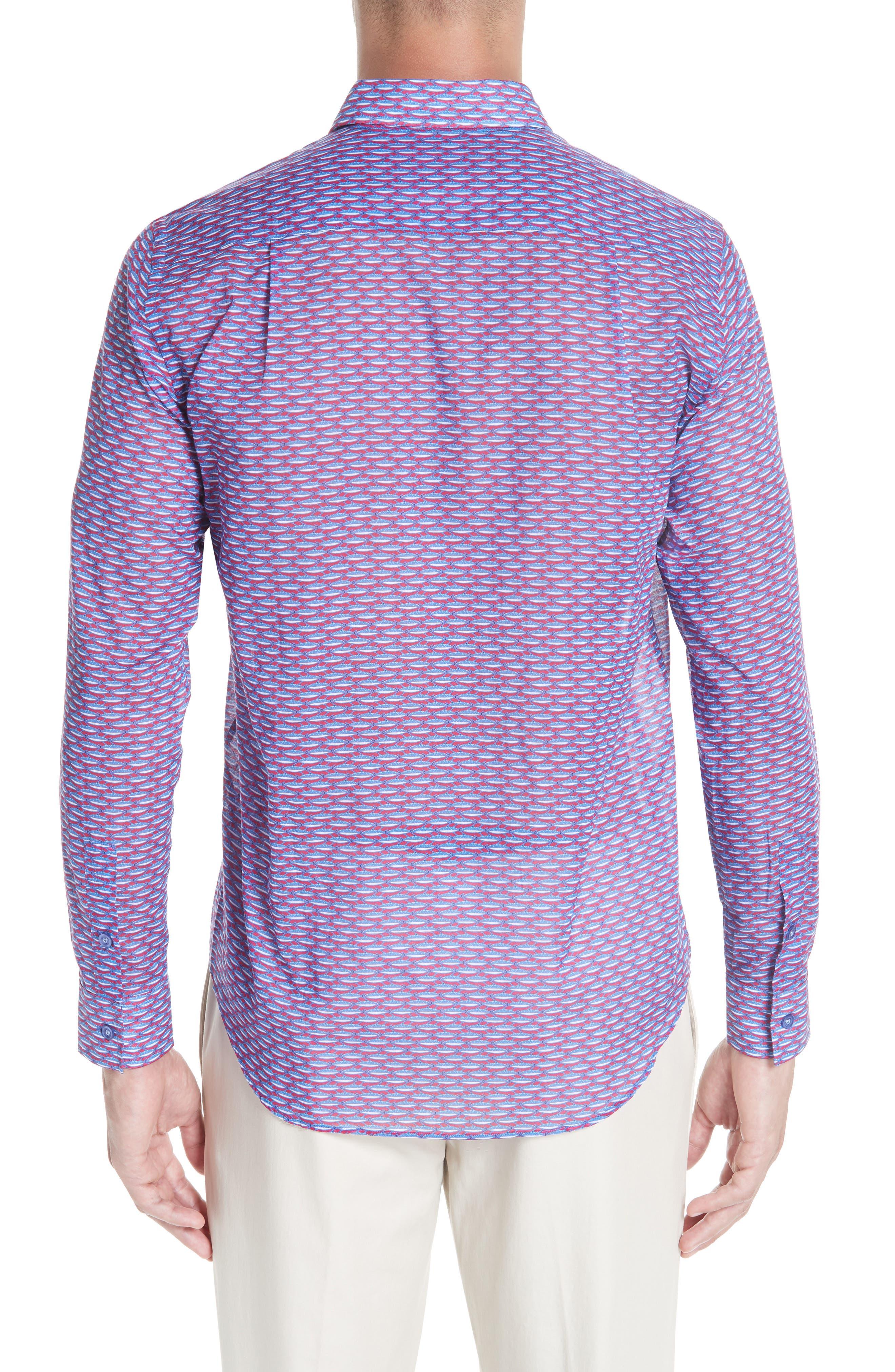 Marbella Voile Print Sport Shirt,                             Alternate thumbnail 3, color,                             MULTI