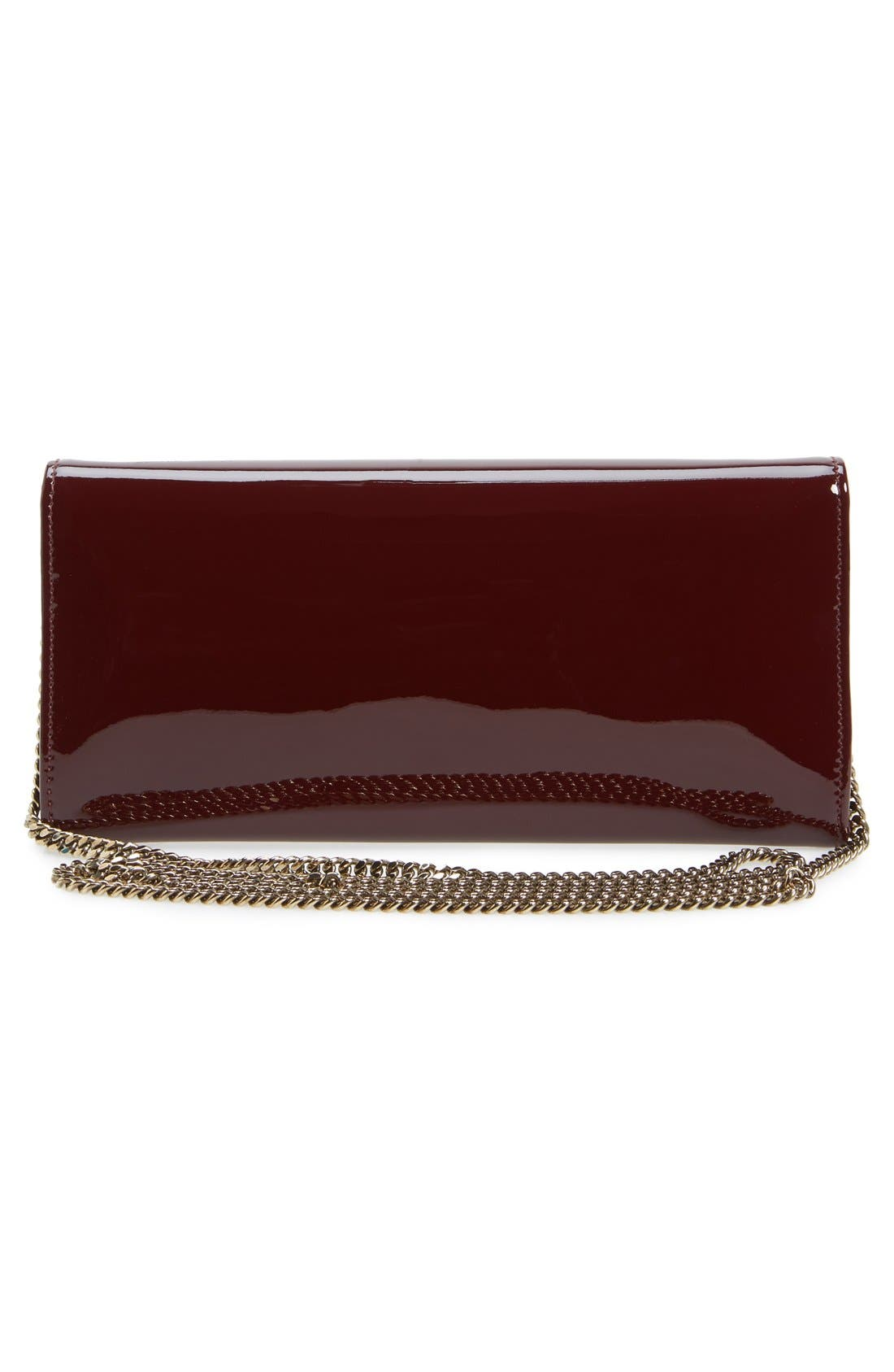 'Milla' Patent Leather Wallet on a Chain,                             Alternate thumbnail 24, color,