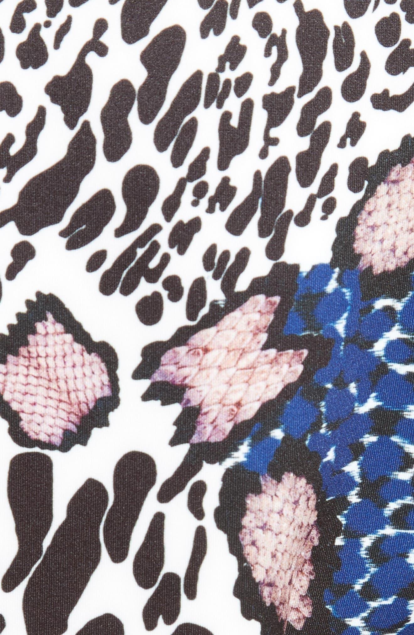 Cheetah Neoprene Sheath Dress,                             Alternate thumbnail 5, color,                             002