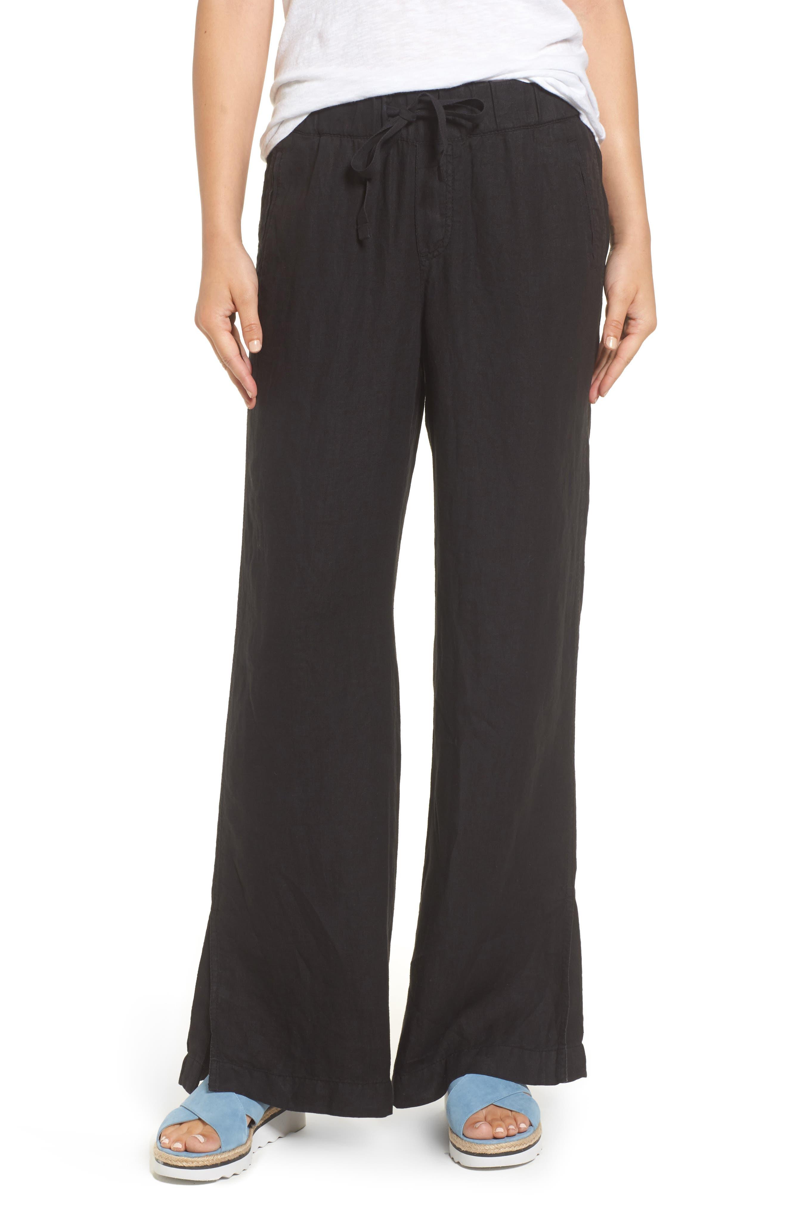 Linen Track Pants,                         Main,                         color,