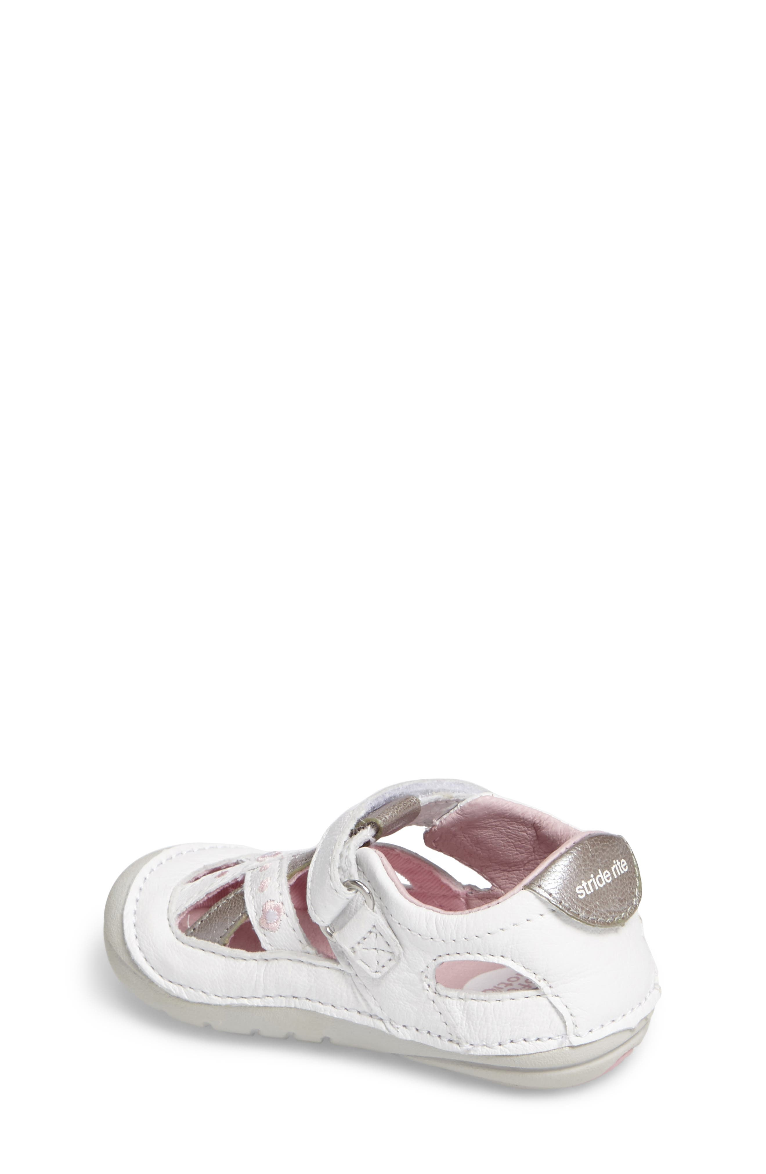 STRIDE RITE,                             Kiki Embroidered Sneaker,                             Alternate thumbnail 2, color,                             WHITE