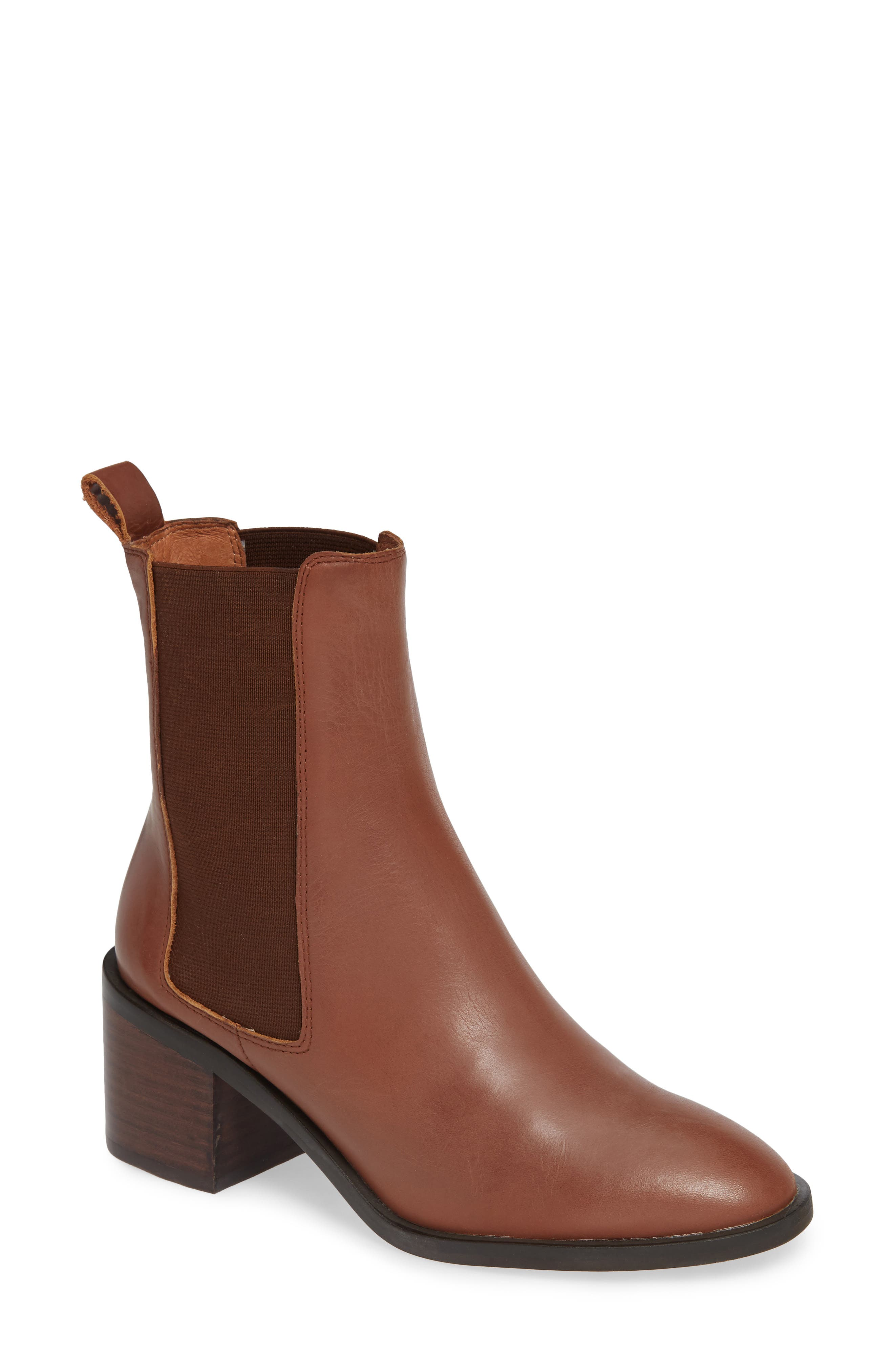 ALIAS MAE Gail Chelsea Bootie in Tan Leather