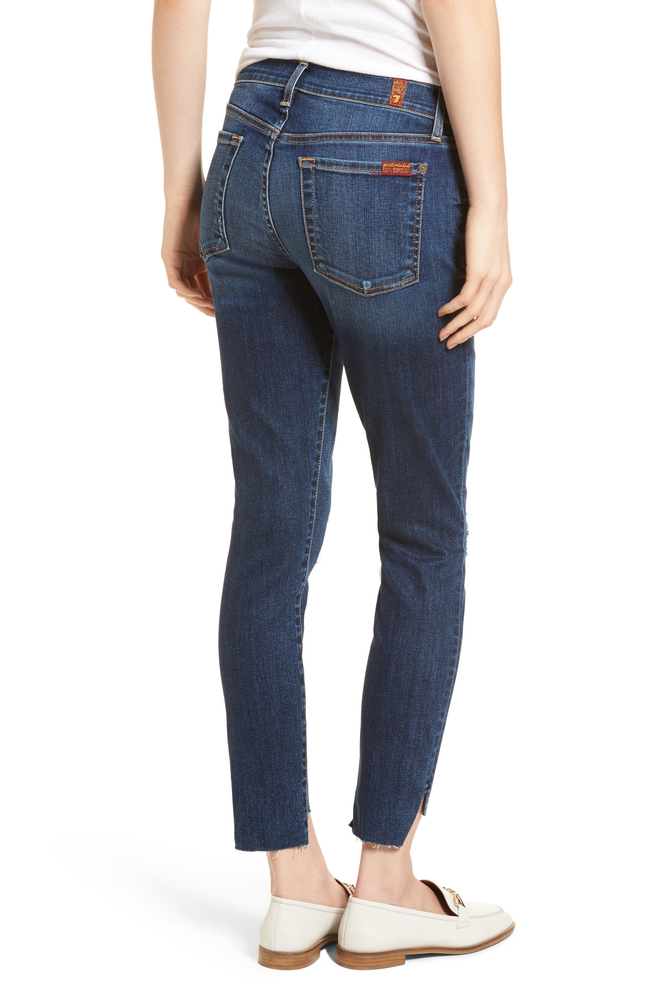 The Ankle Skinny Ripped Step Hem Jeans,                             Alternate thumbnail 2, color,