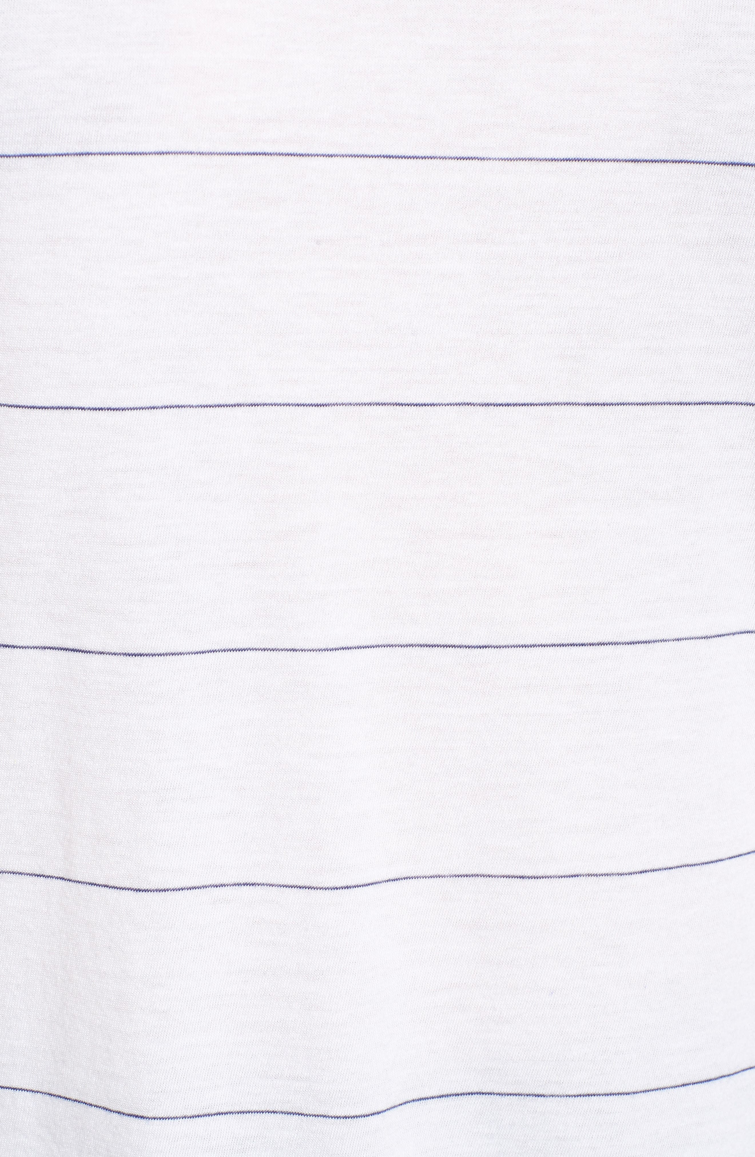 Stripe Relaxed Tee,                             Alternate thumbnail 5, color,                             100