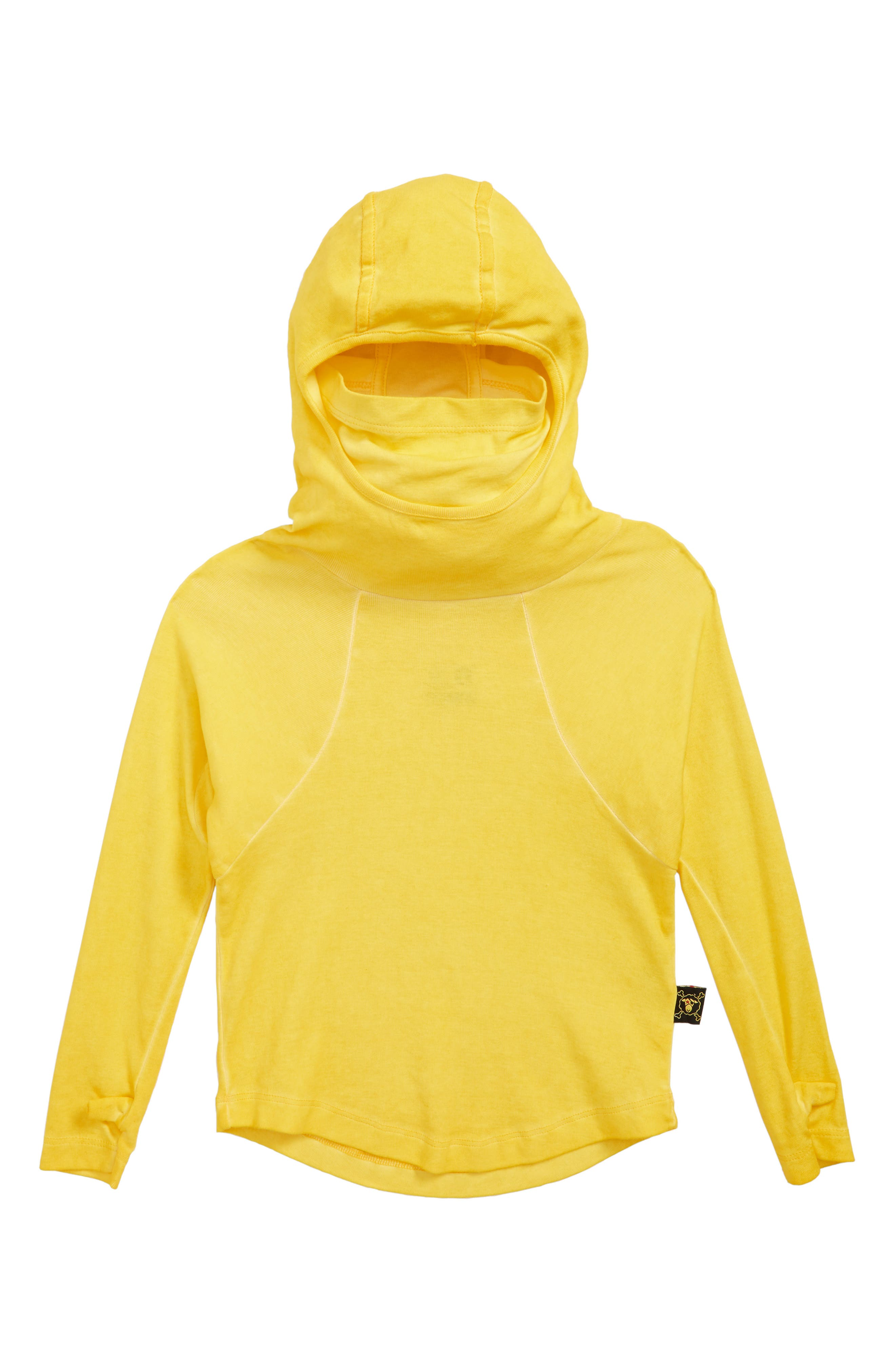 Ninja Hooded Shirt,                             Main thumbnail 1, color,                             DUSTY YELLOW
