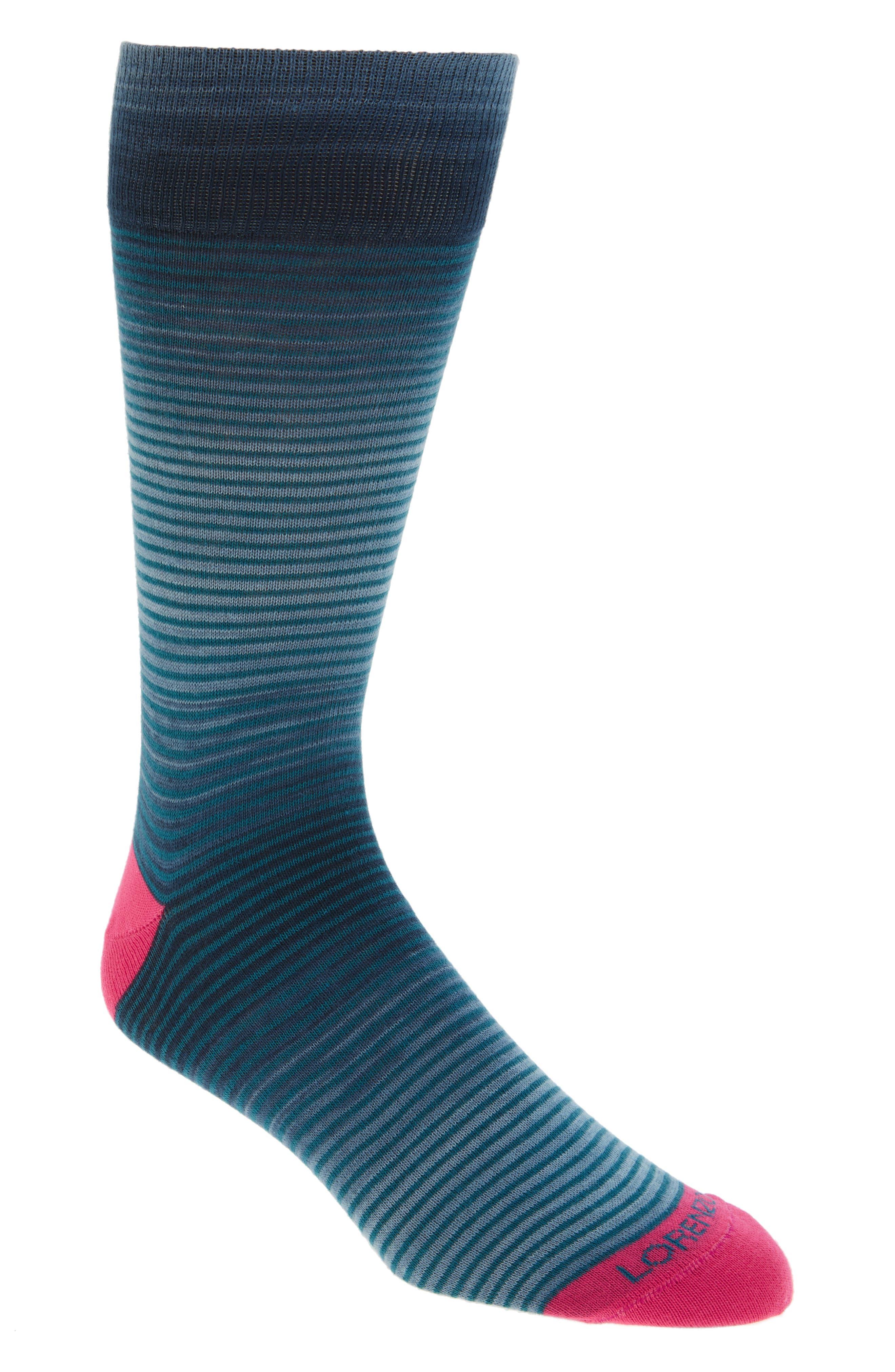 Thin Stripe Crew Socks,                             Main thumbnail 1, color,                             410