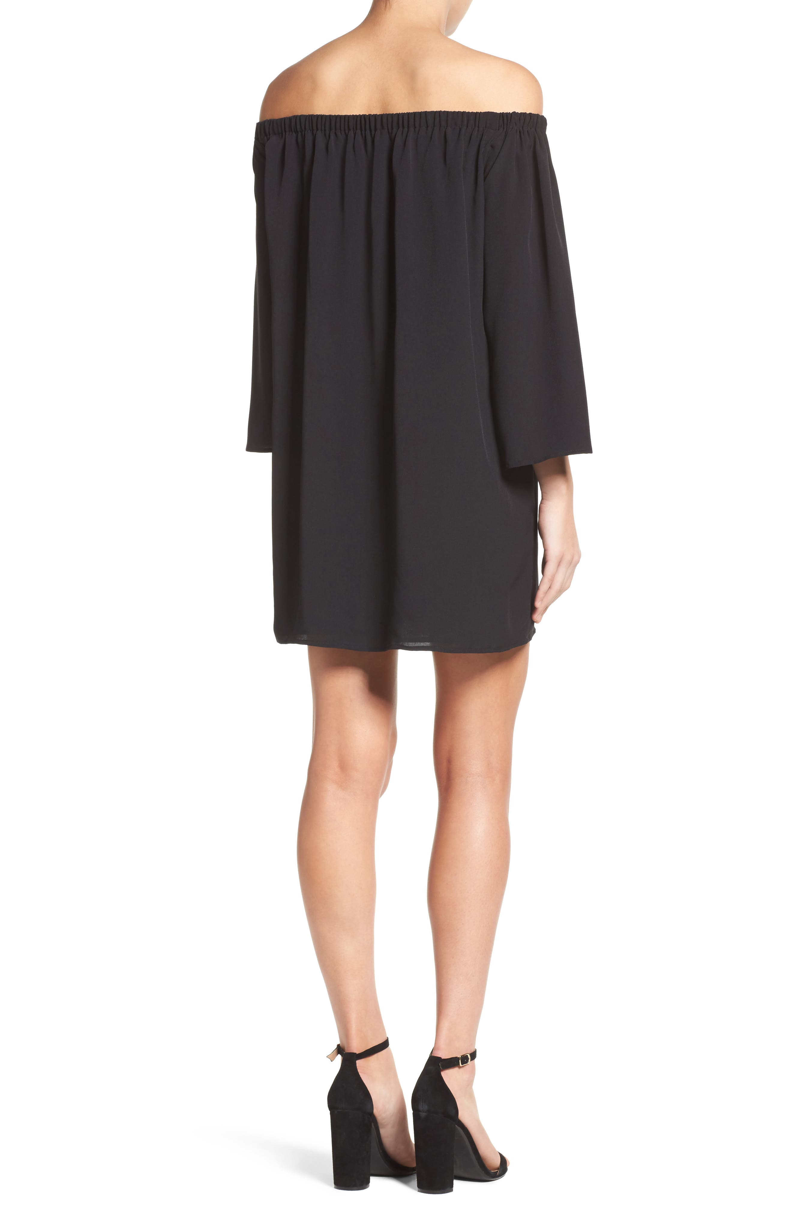 Polly Off the Shoulder Dress,                             Alternate thumbnail 5, color,
