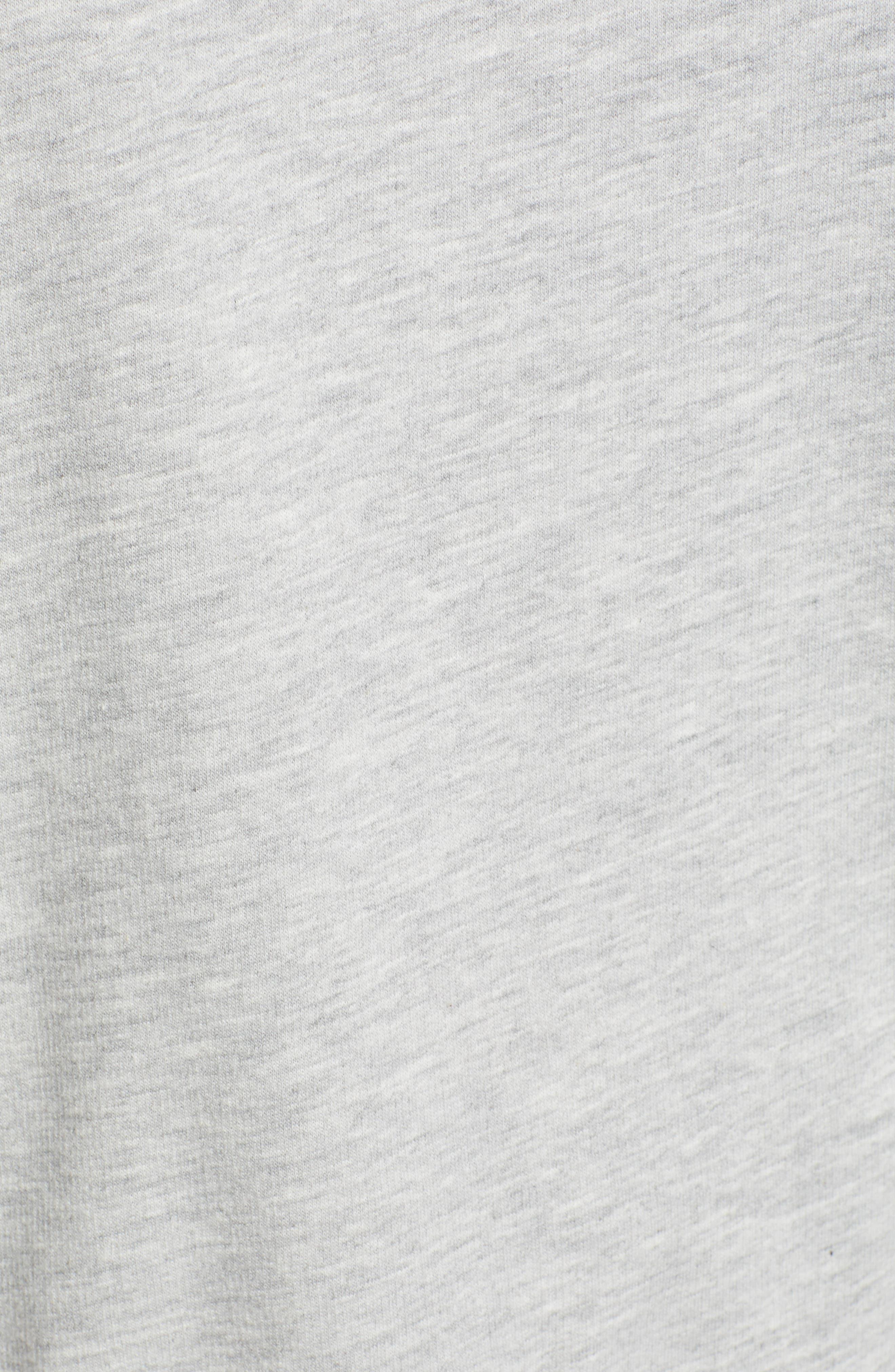 Raglan Sweatshirt,                             Alternate thumbnail 5, color,                             GREY HEATHER- NAVY COMBO