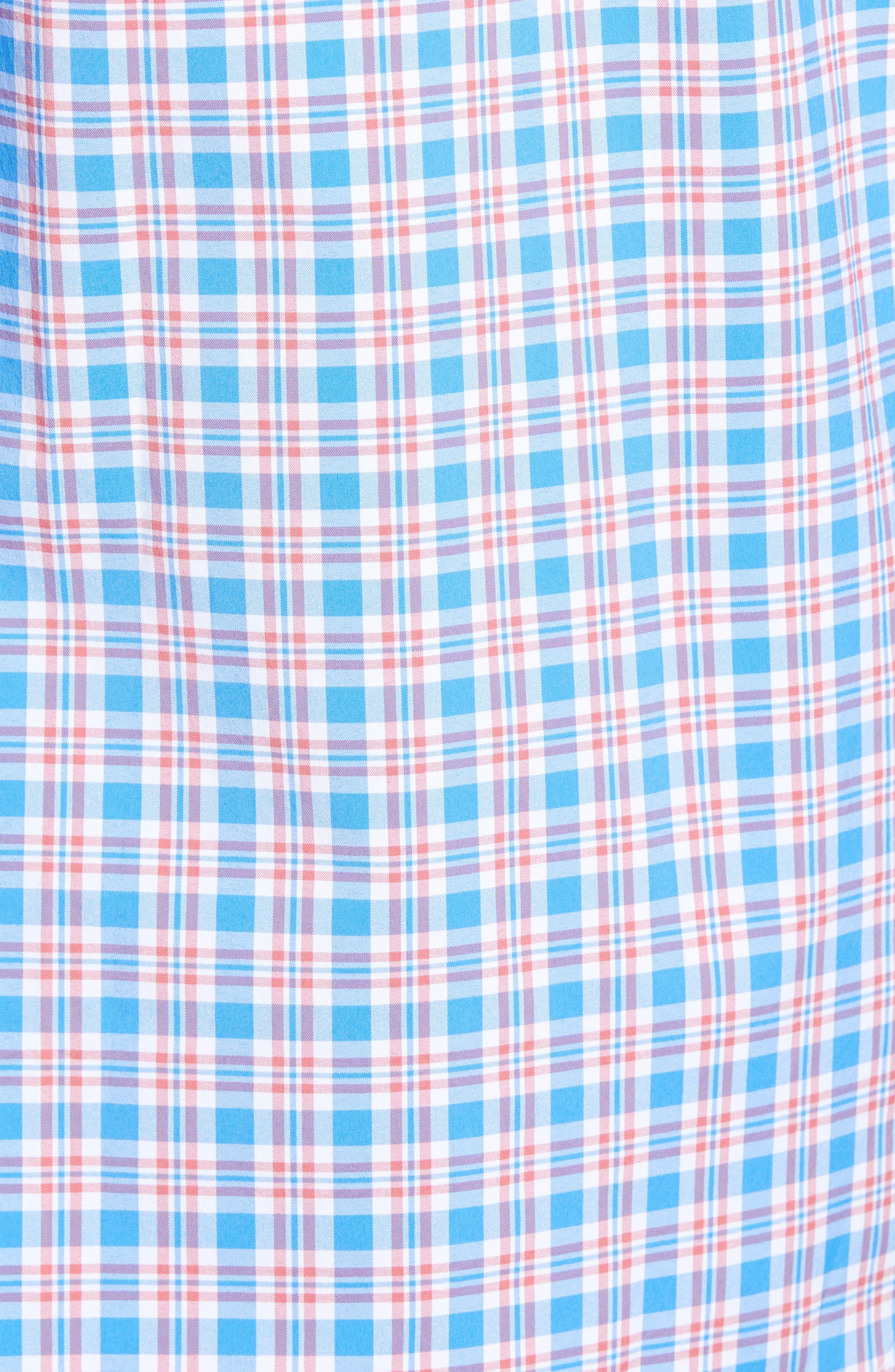 VINEYARD VINES,                             Lighthouse Road Regular Fit Plaid Sport Shirt,                             Alternate thumbnail 5, color,                             415