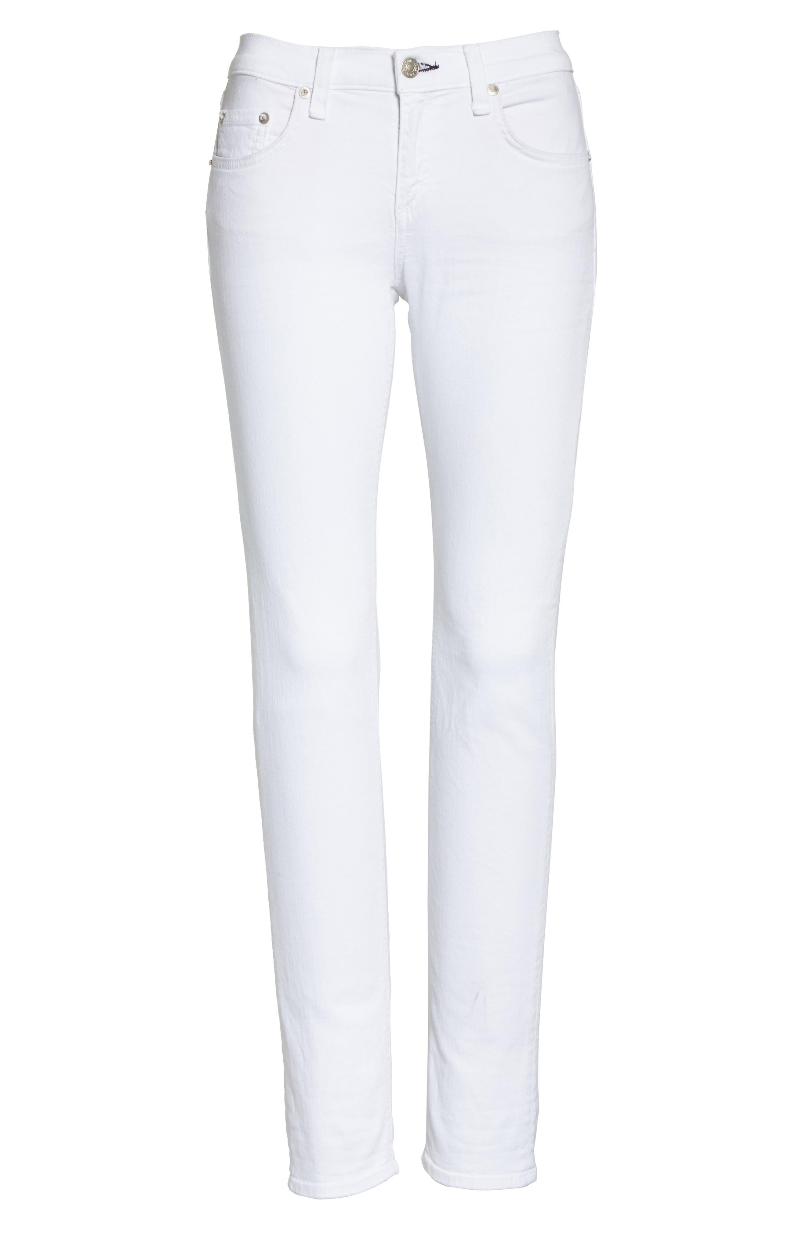 'The Dre' Skinny Jeans,                             Alternate thumbnail 8, color,                             BRIGHT WHITE