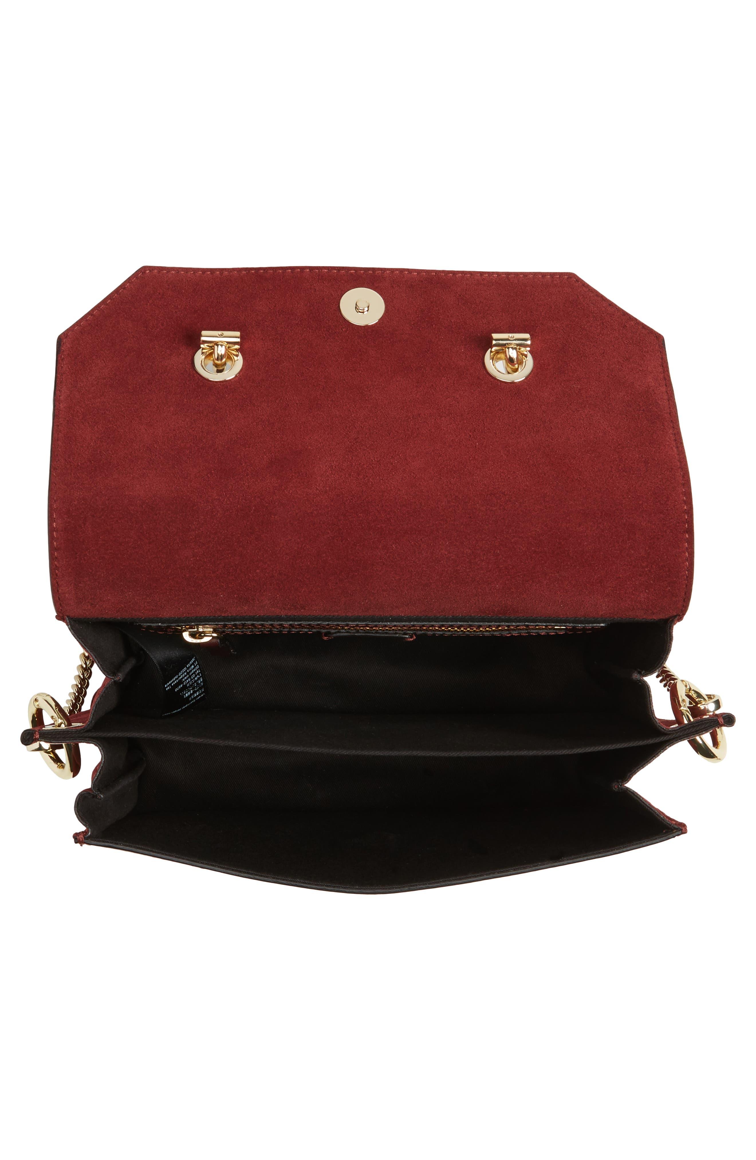 Premium Leather & Suede Soko Shoulder Bag,                             Alternate thumbnail 4, color,                             930