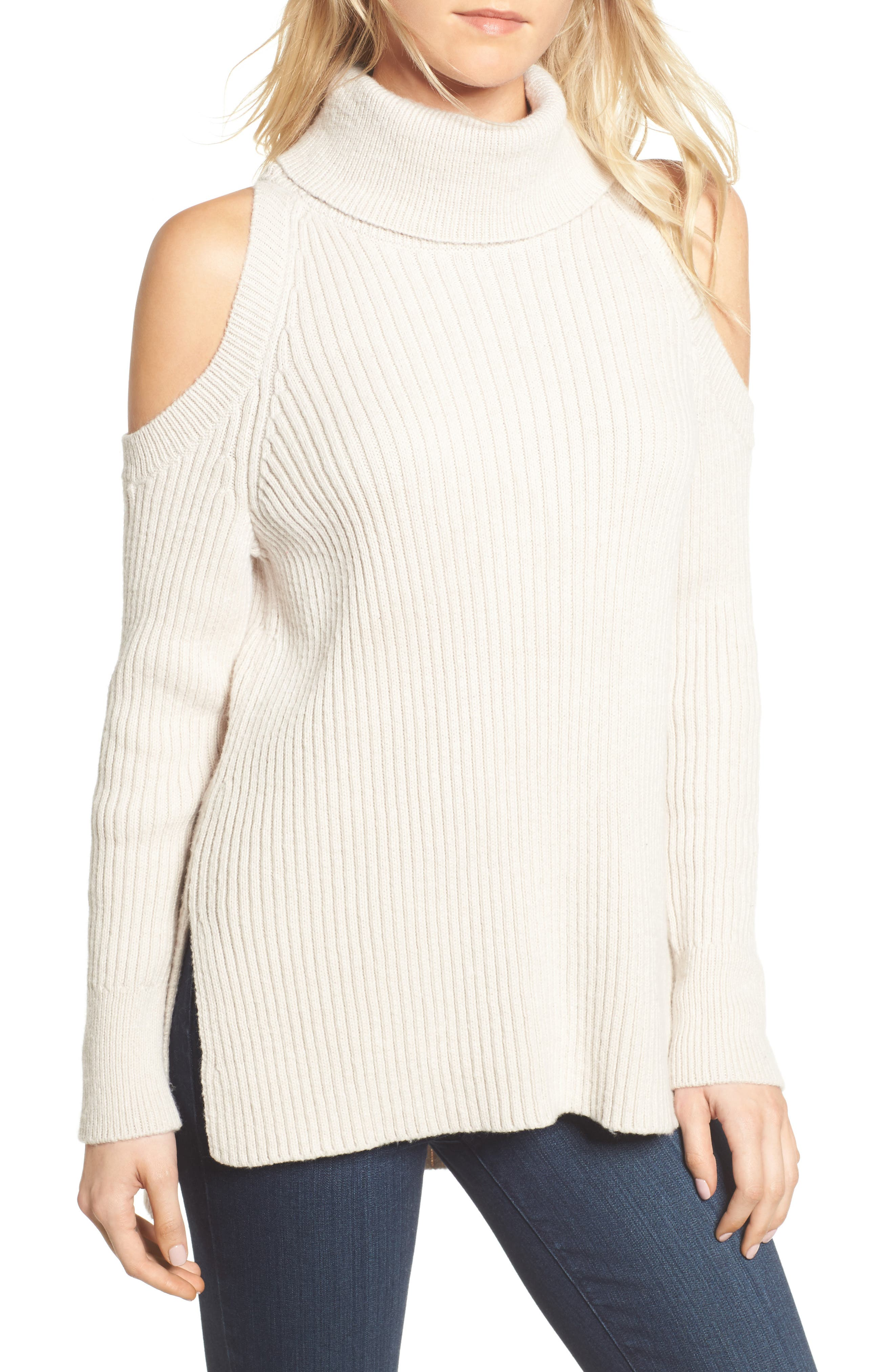 Rodell Cold Shoulder Sweater,                             Main thumbnail 2, color,