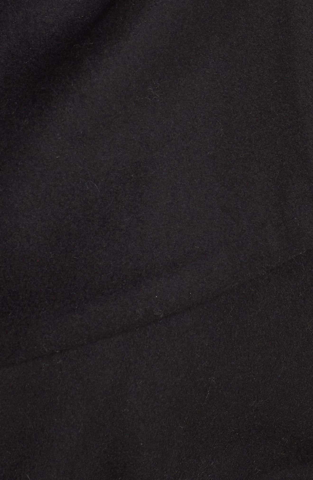 Marla Cutaway Wrap Coat with Oversize Collar,                             Alternate thumbnail 7, color,                             002