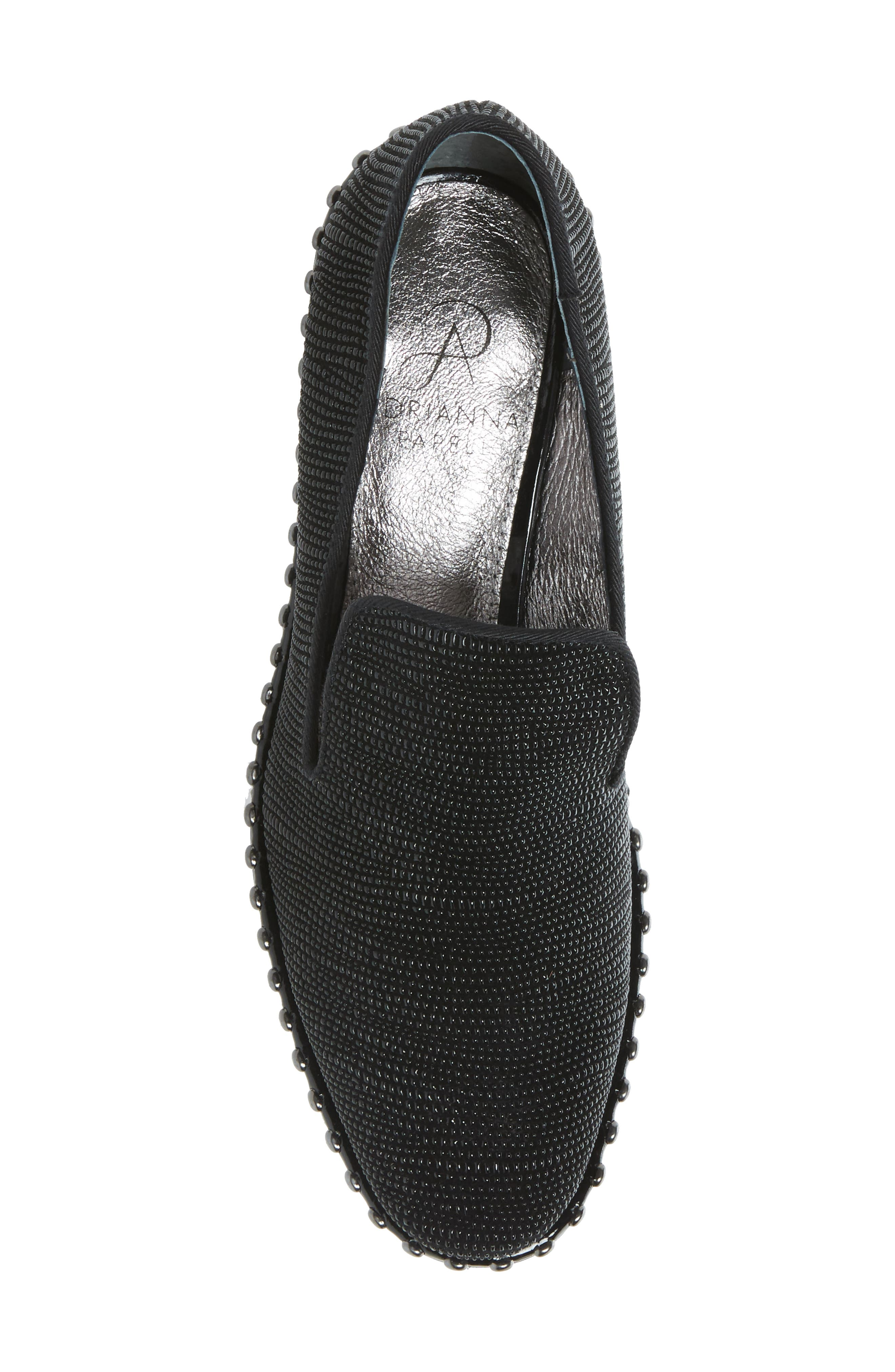 'Prince' Studded Smoking Slipper Flat,                             Alternate thumbnail 5, color,                             011
