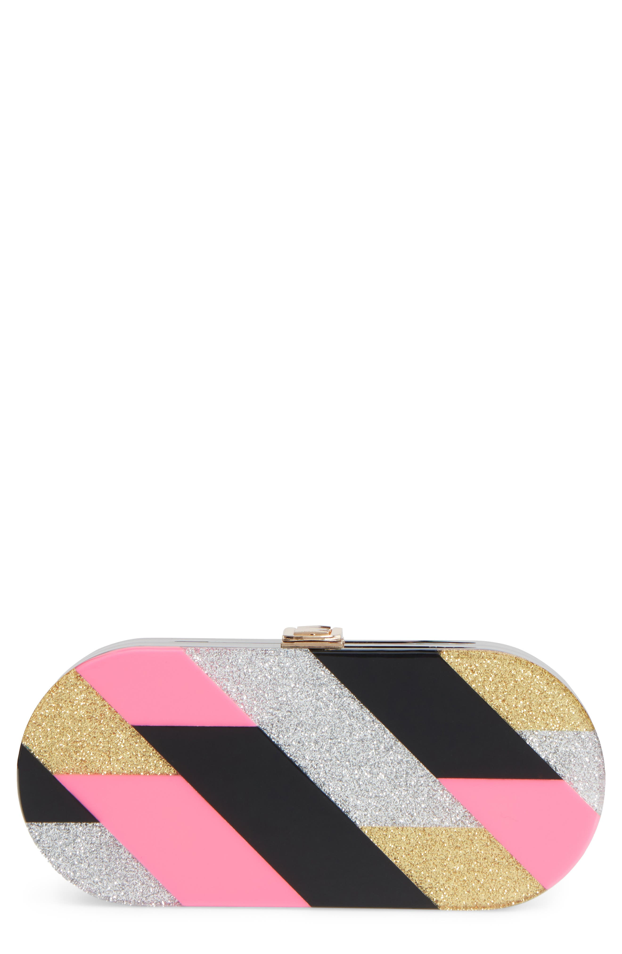 Geo Oval Clutch,                             Main thumbnail 1, color,                             650