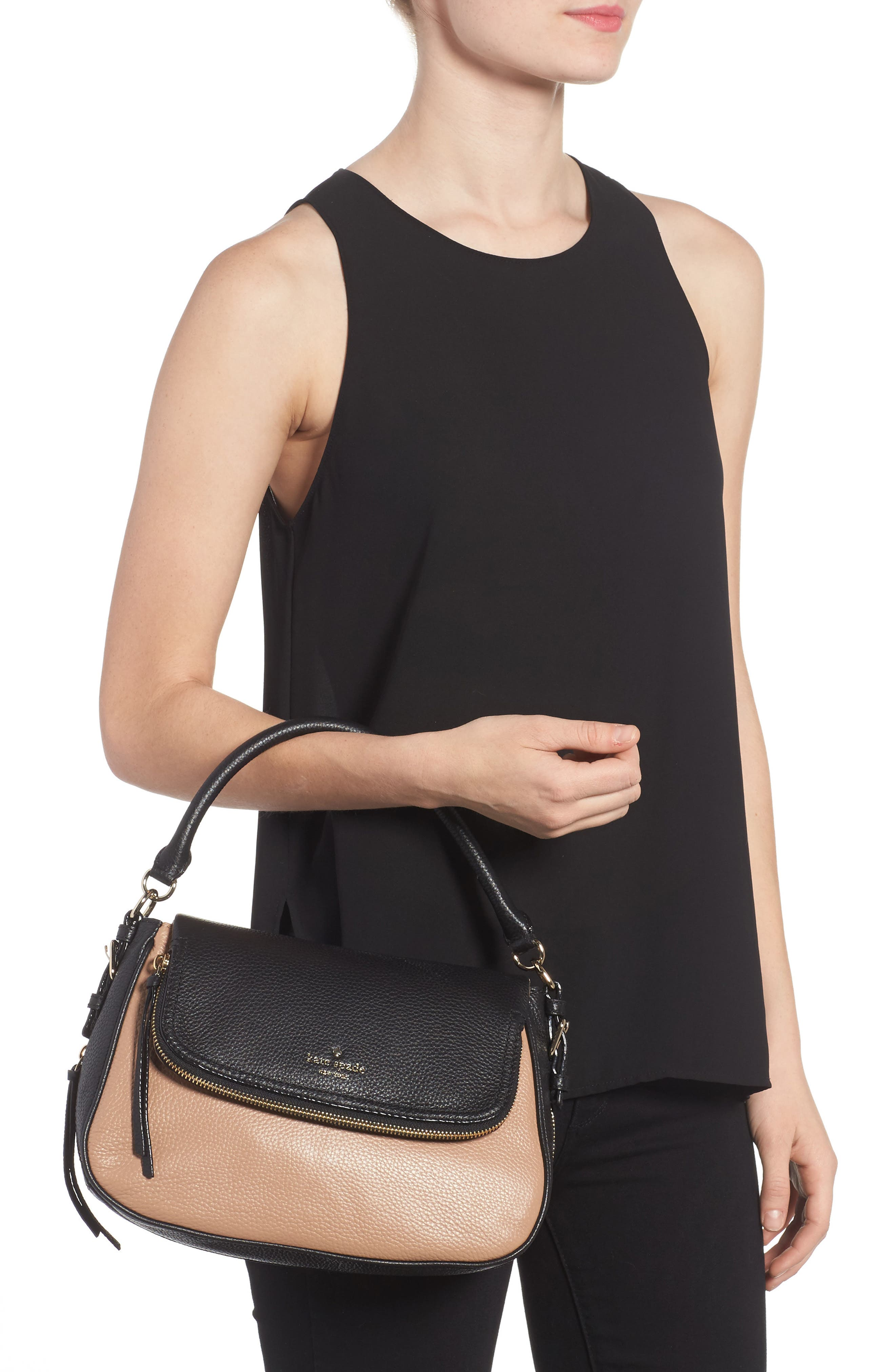 cobble hill - deva leather crossbody bag,                             Alternate thumbnail 9, color,