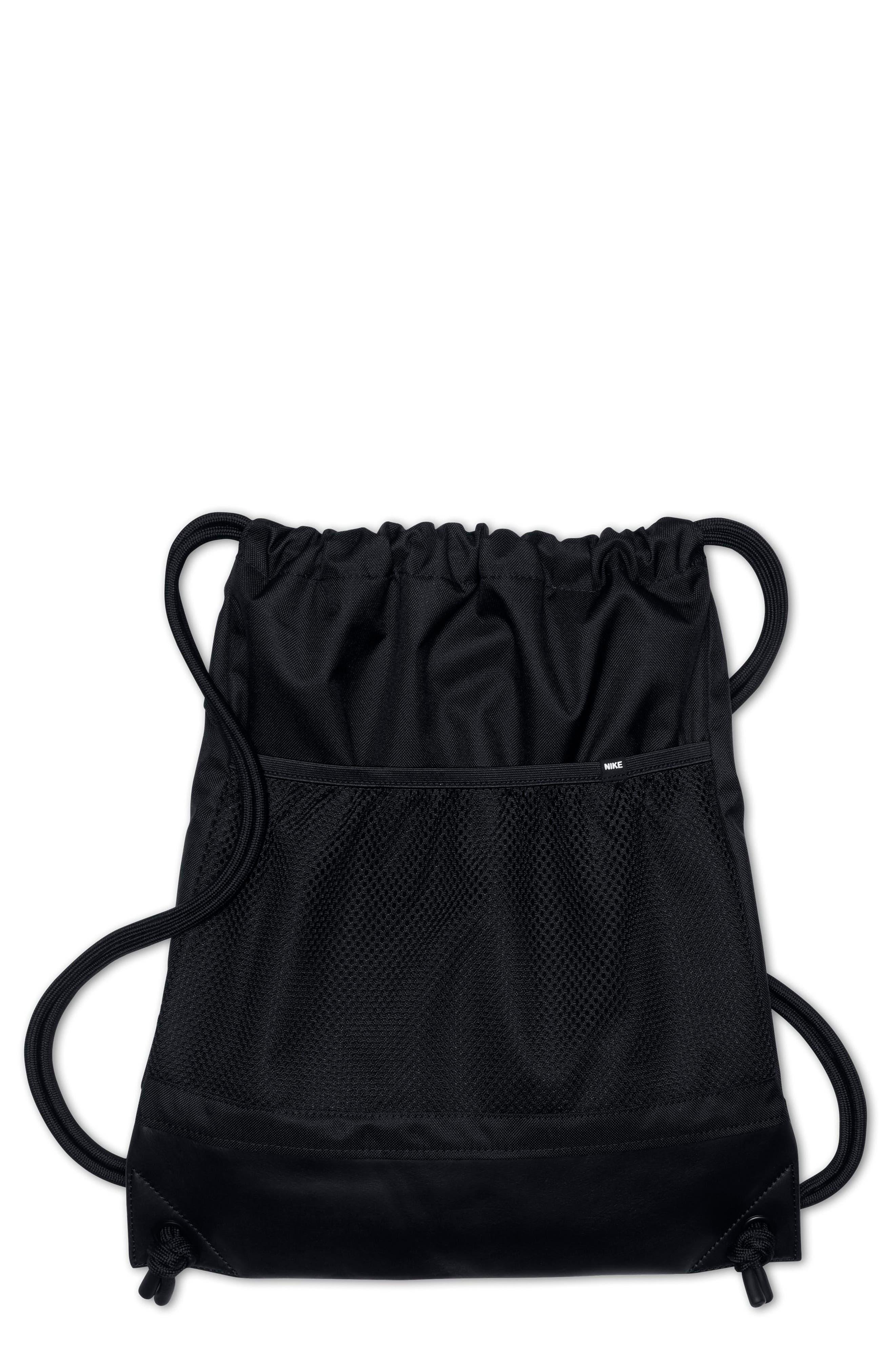 NikeLab Gym Sack,                             Main thumbnail 1, color,                             BLACK/ BLACK/ BLACK