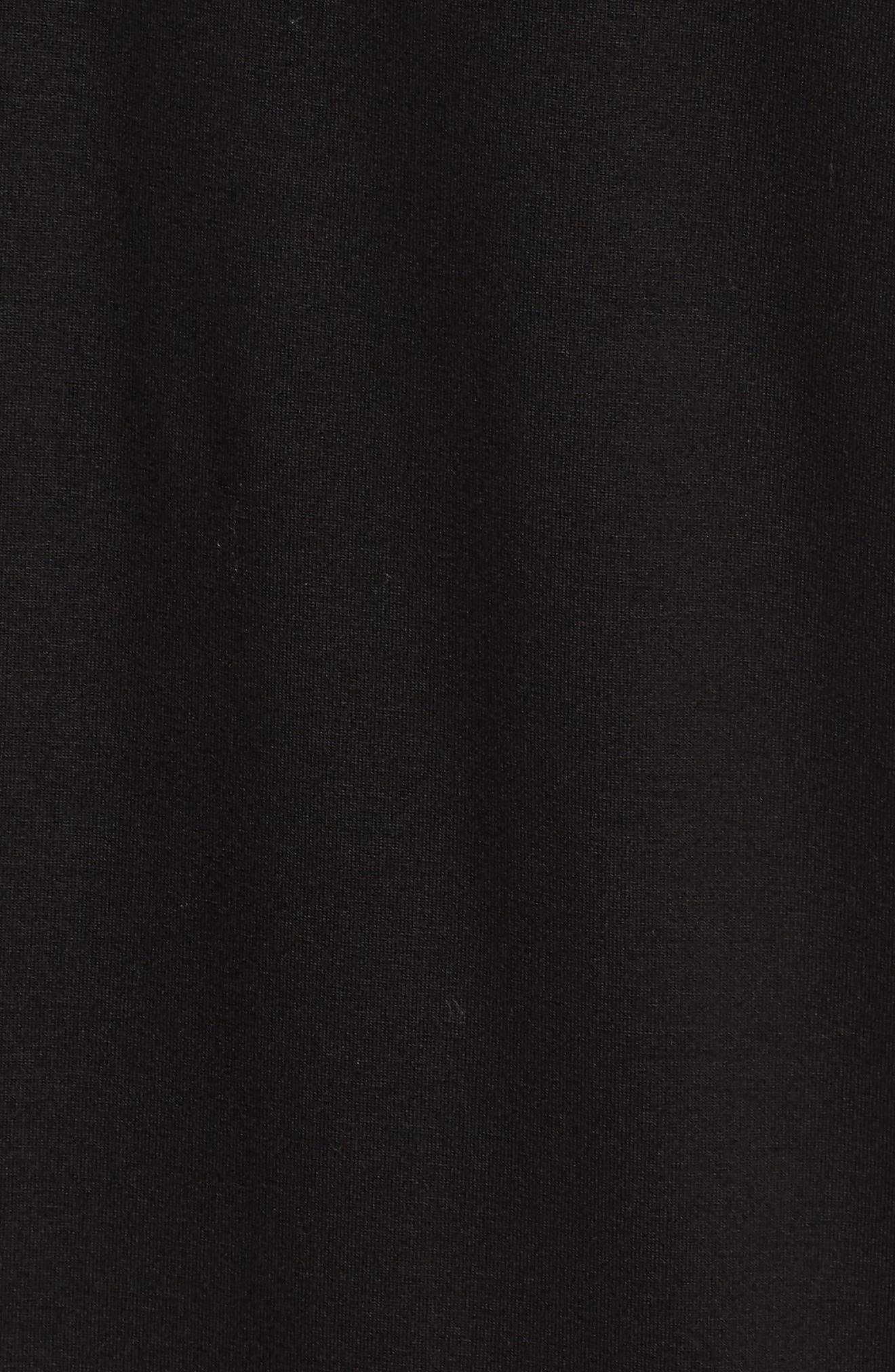 V-Back Stretch Tencel<sup>®</sup> Lyocell Shift Dress,                             Alternate thumbnail 6, color,                             001