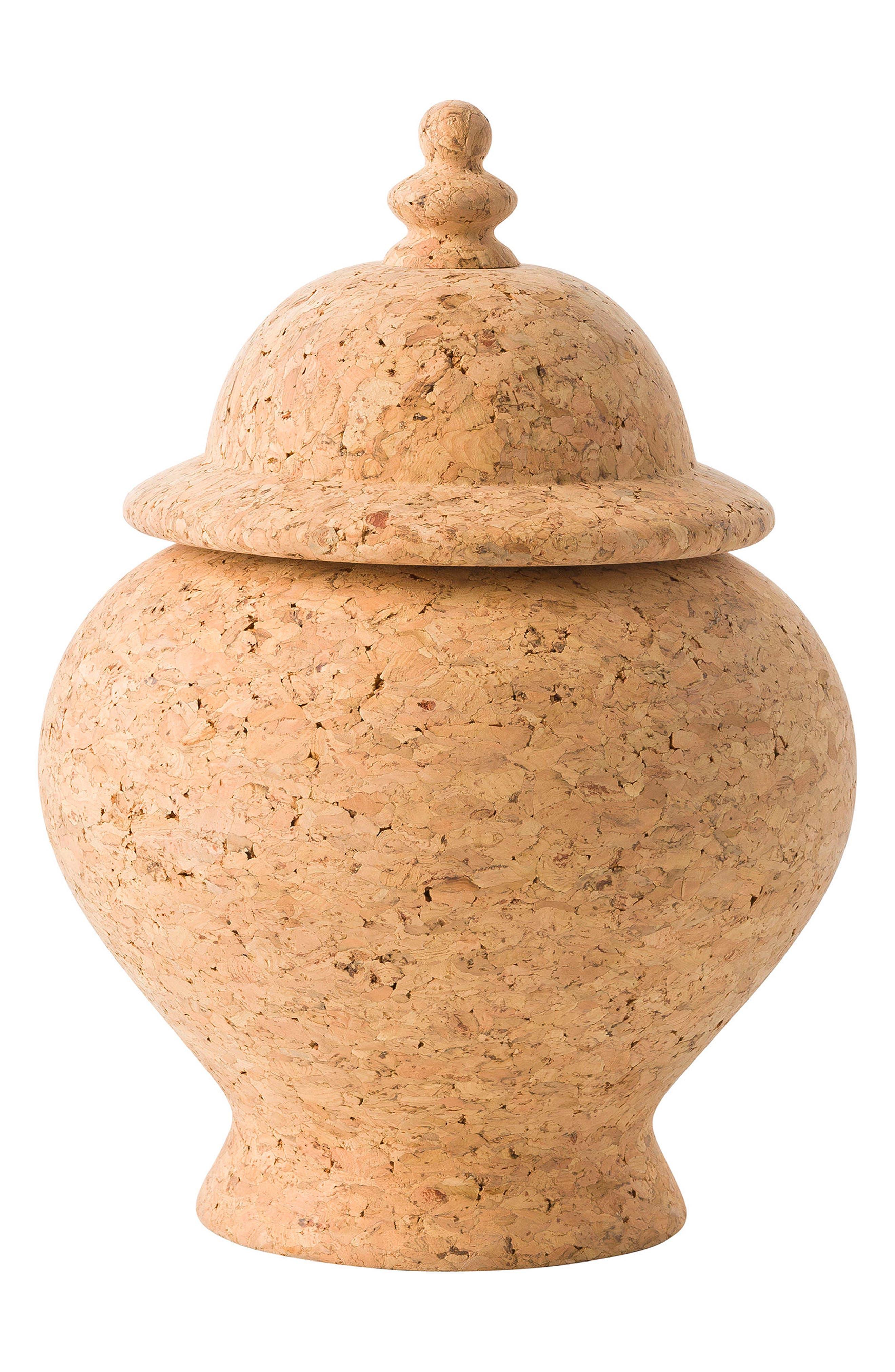 Quinta Natural Cork Ginger Jar,                             Main thumbnail 1, color,                             200