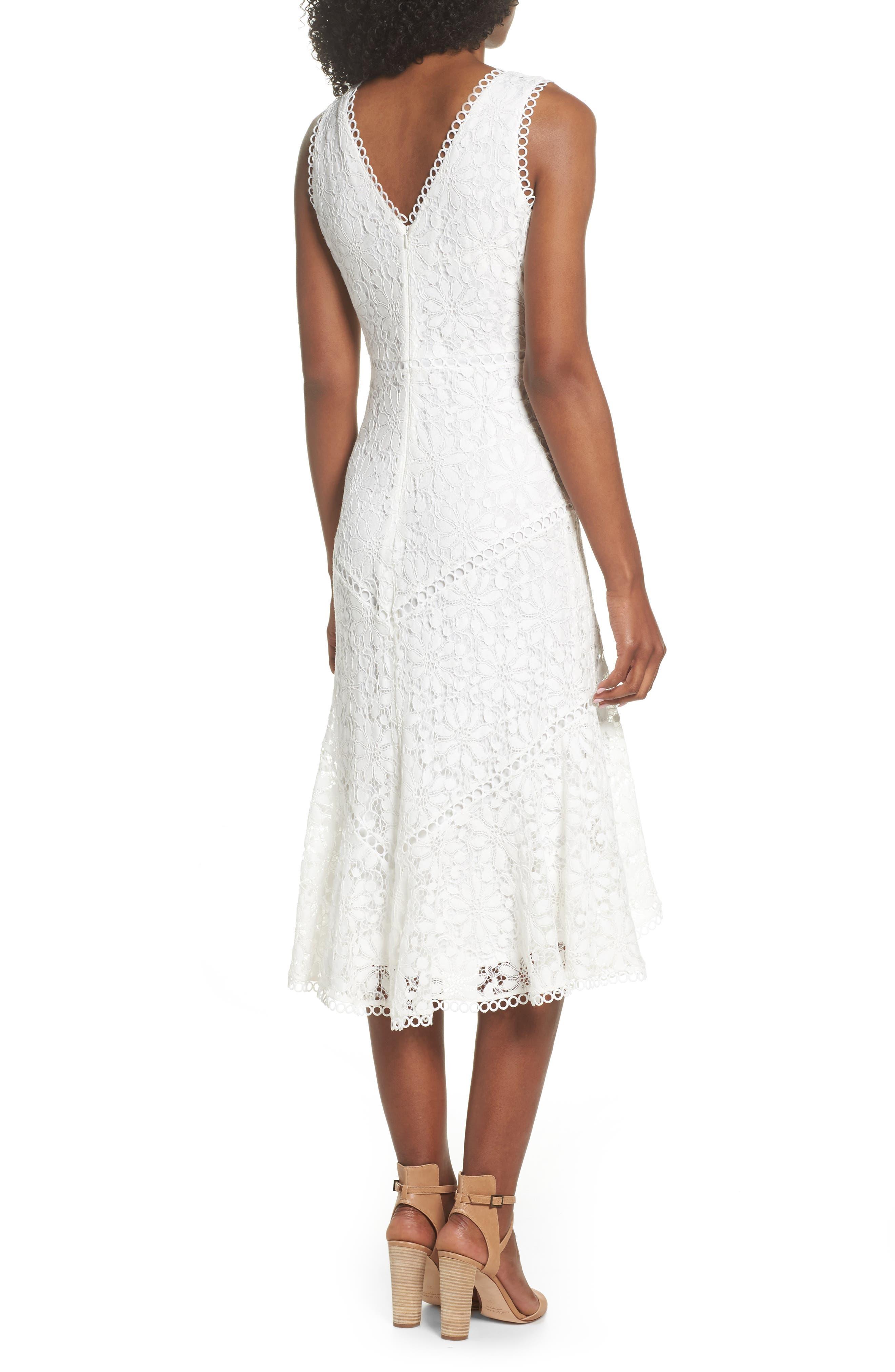Lace Midi Dress,                             Alternate thumbnail 2, color,                             902
