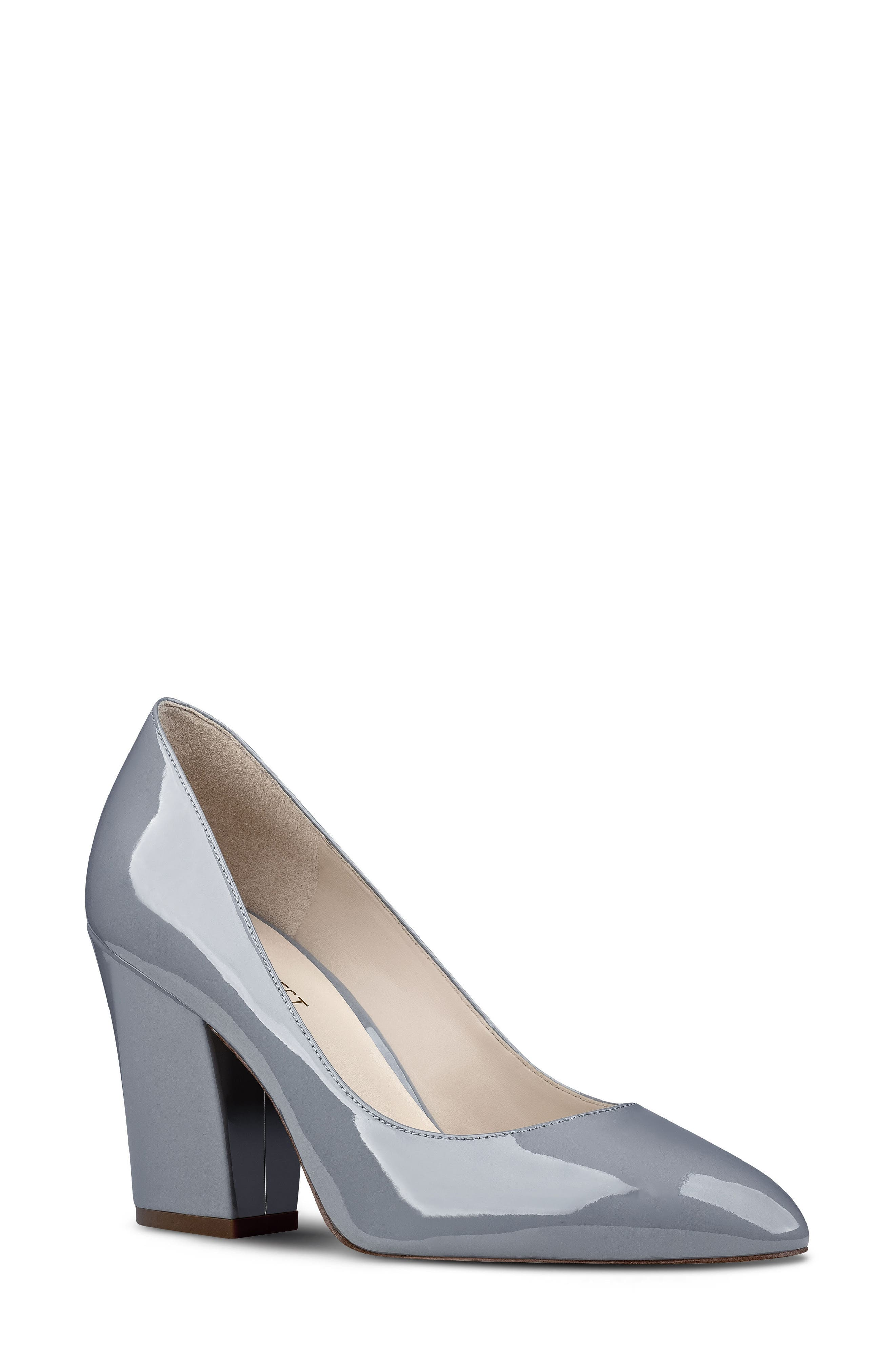 Scheila Pointy Toe Pump,                             Main thumbnail 1, color,                             GREY FAUX LEATHER