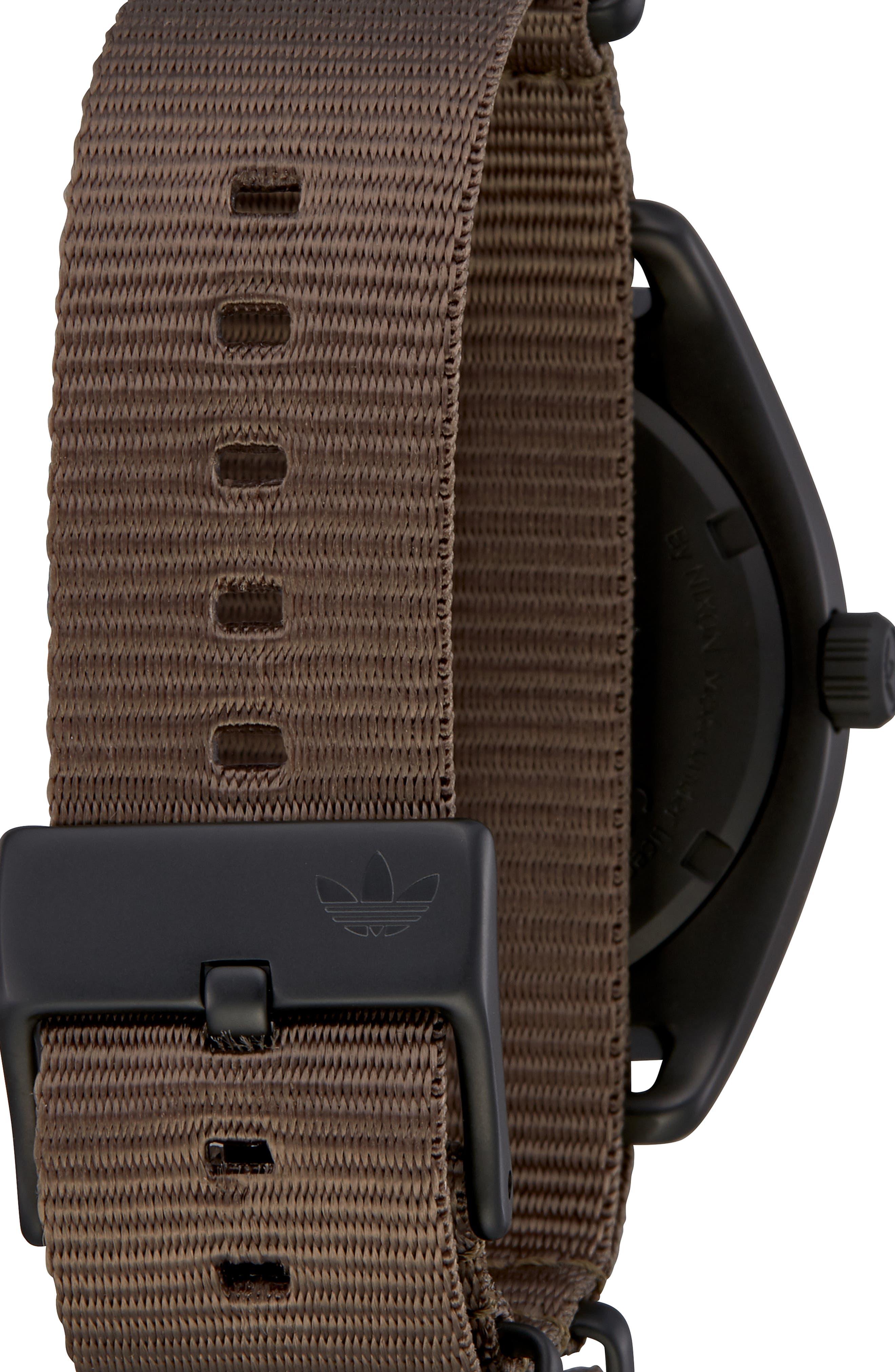 Process Nylon Strap Watch, 40mm,                             Alternate thumbnail 2, color,                             BROWN/ BRANCH/ BLACK
