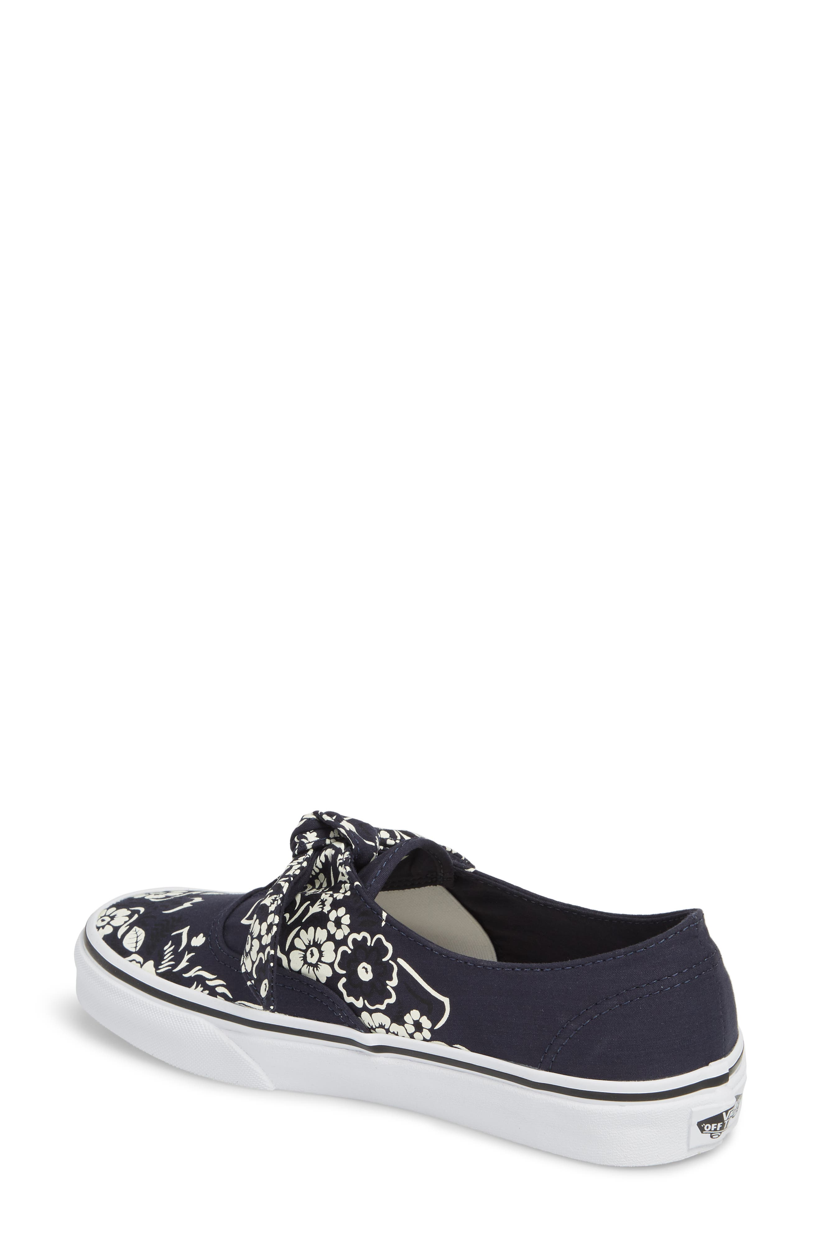 UA Authentic Knotted Floral Bandana Slip-On Sneaker,                             Alternate thumbnail 2, color,                             PARISIAN NIGHT/ TRUE WHITE
