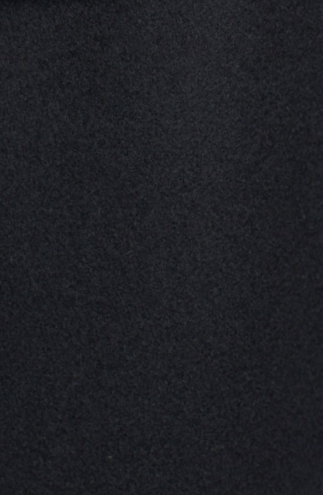 Genuine Fox Fur Trim Hooded Wool Blend Coat,                             Alternate thumbnail 9, color,                             001