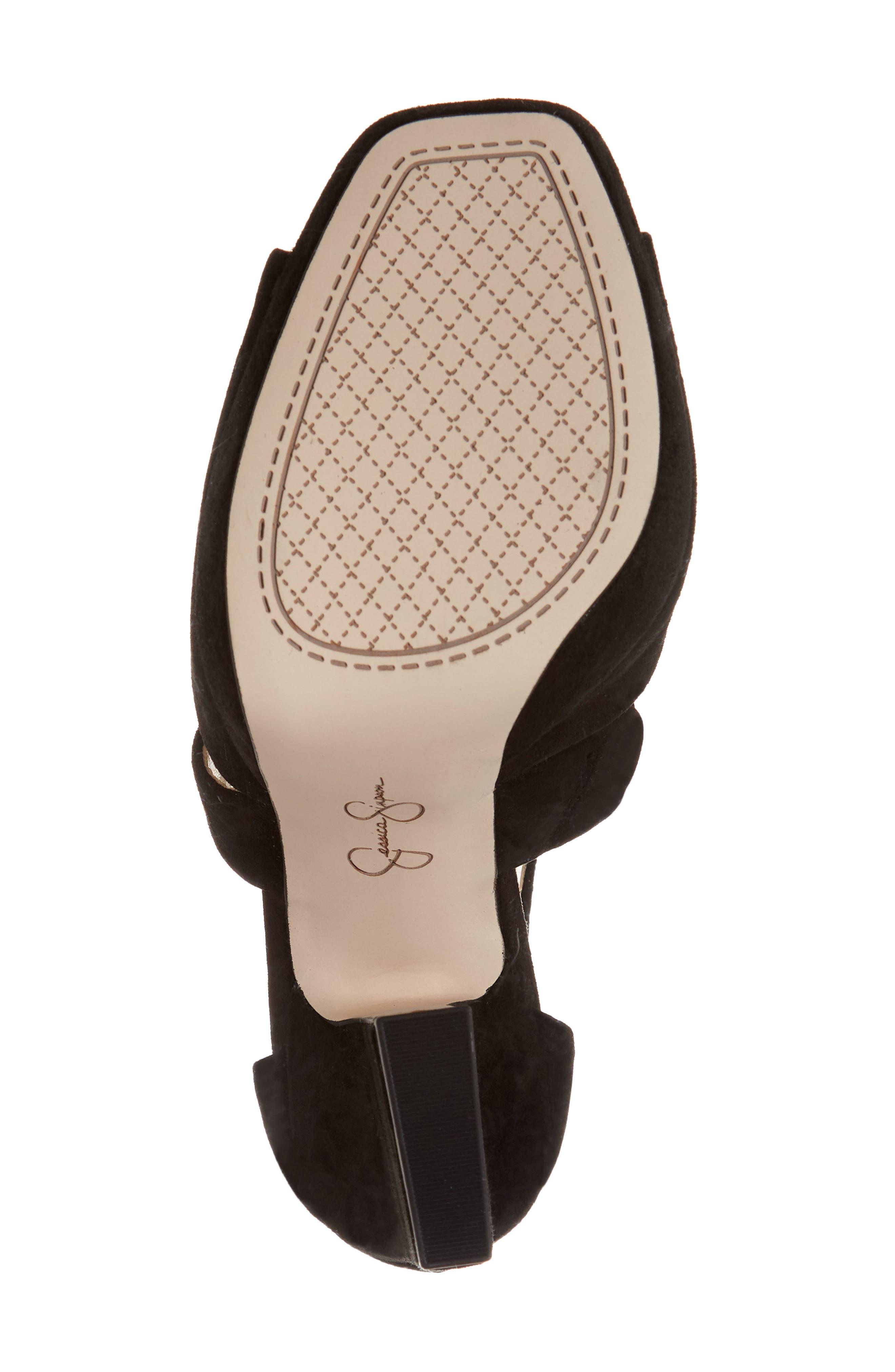 Tehya Cross Strap Platform Sandal,                             Alternate thumbnail 6, color,                             001