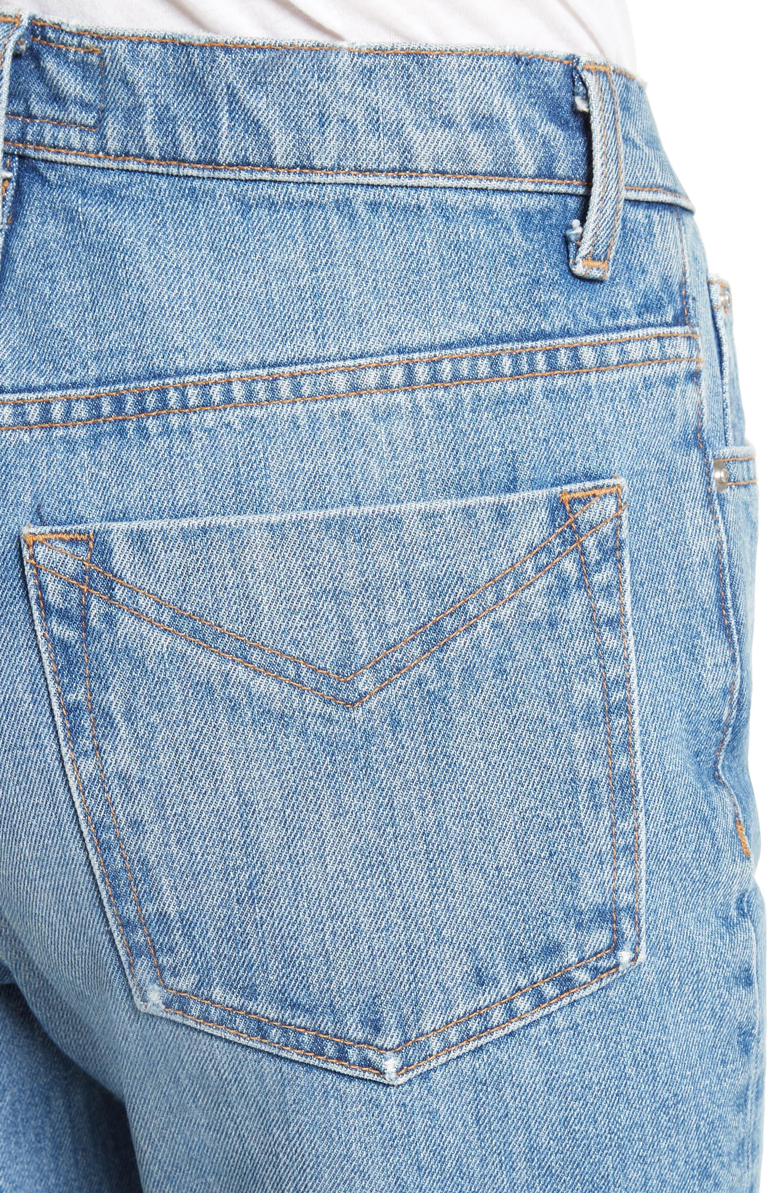 Lou High Waist Jeans,                             Alternate thumbnail 4, color,                             458