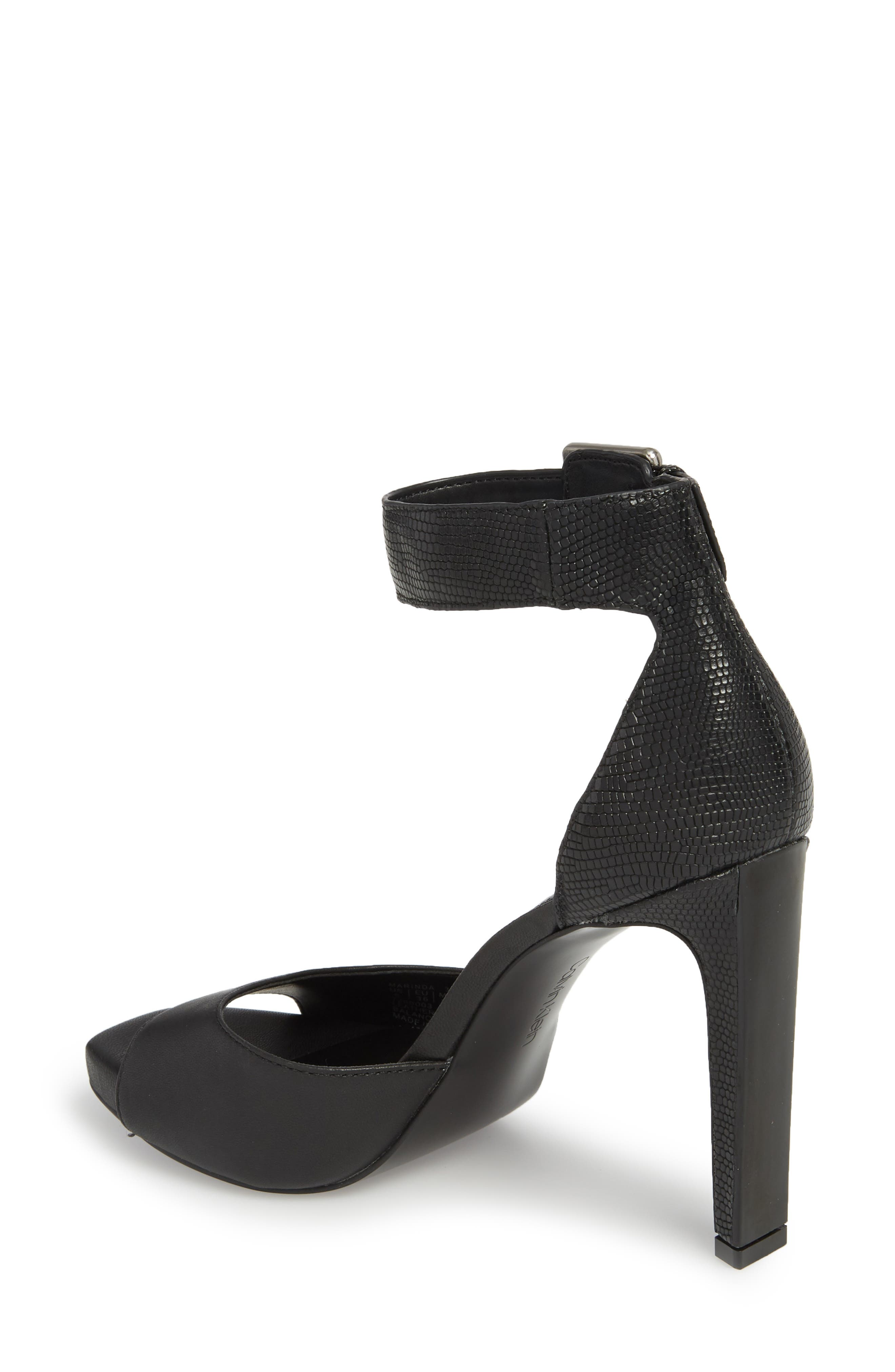 Marinda Halo Strap Sandal,                             Alternate thumbnail 2, color,                             BLACK LEATHER