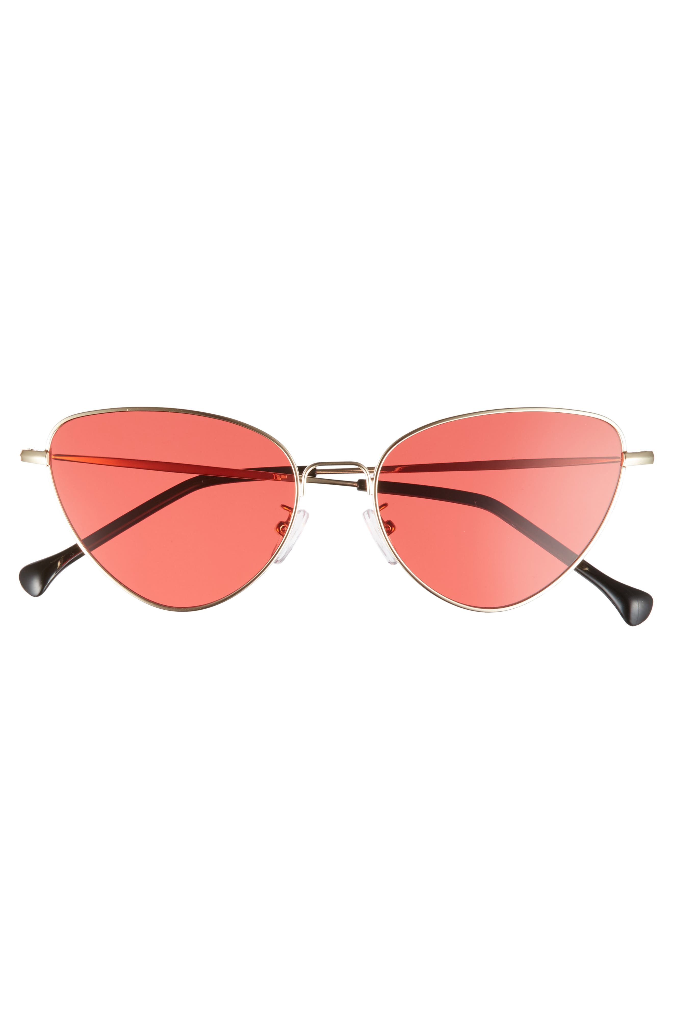 The Bella 55mm Cat Eye Sunglasses,                             Alternate thumbnail 3, color,                             RED