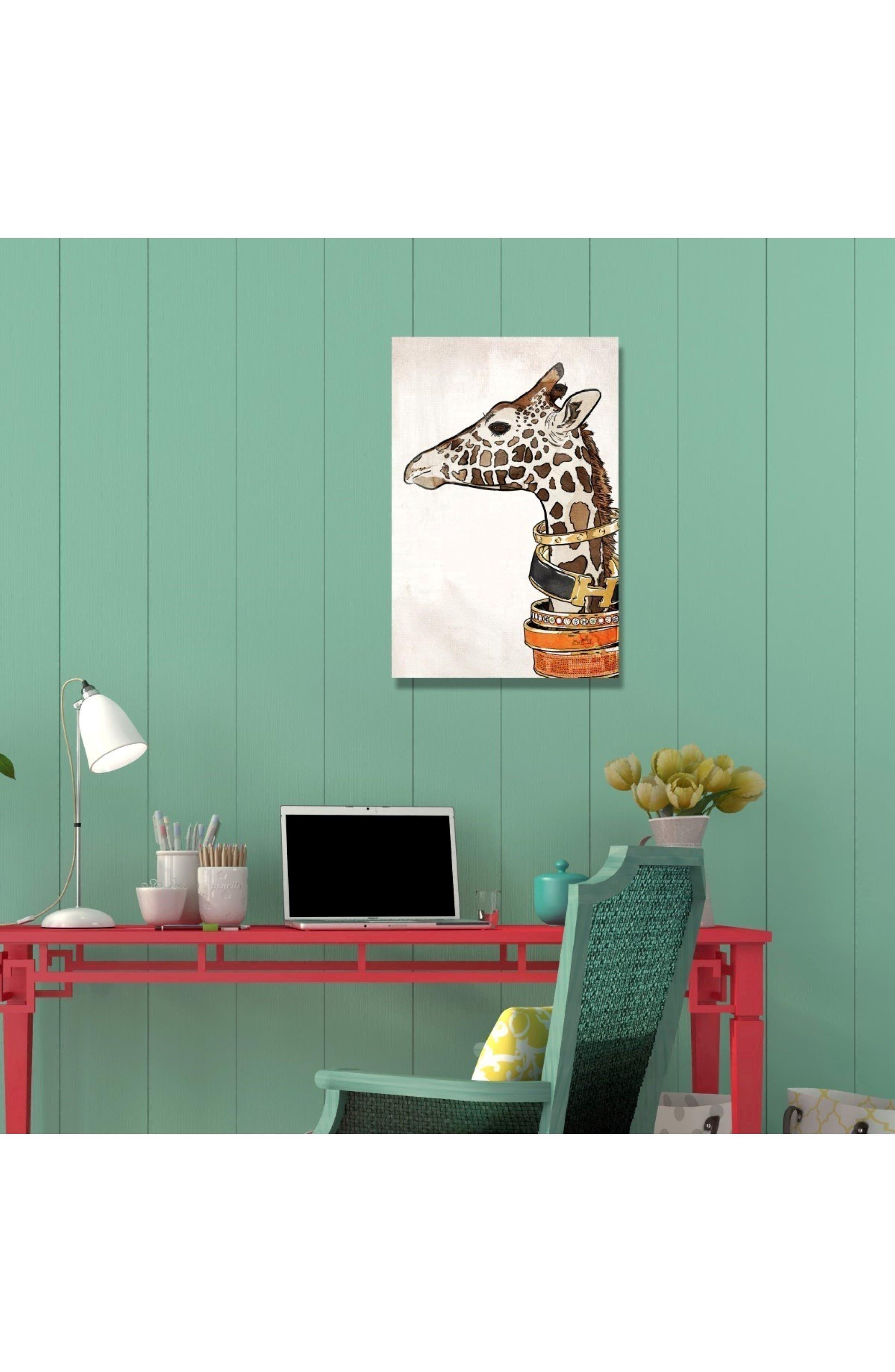 Luxurious Giraffe Canvas Wall Art,                             Alternate thumbnail 2, color,                             100