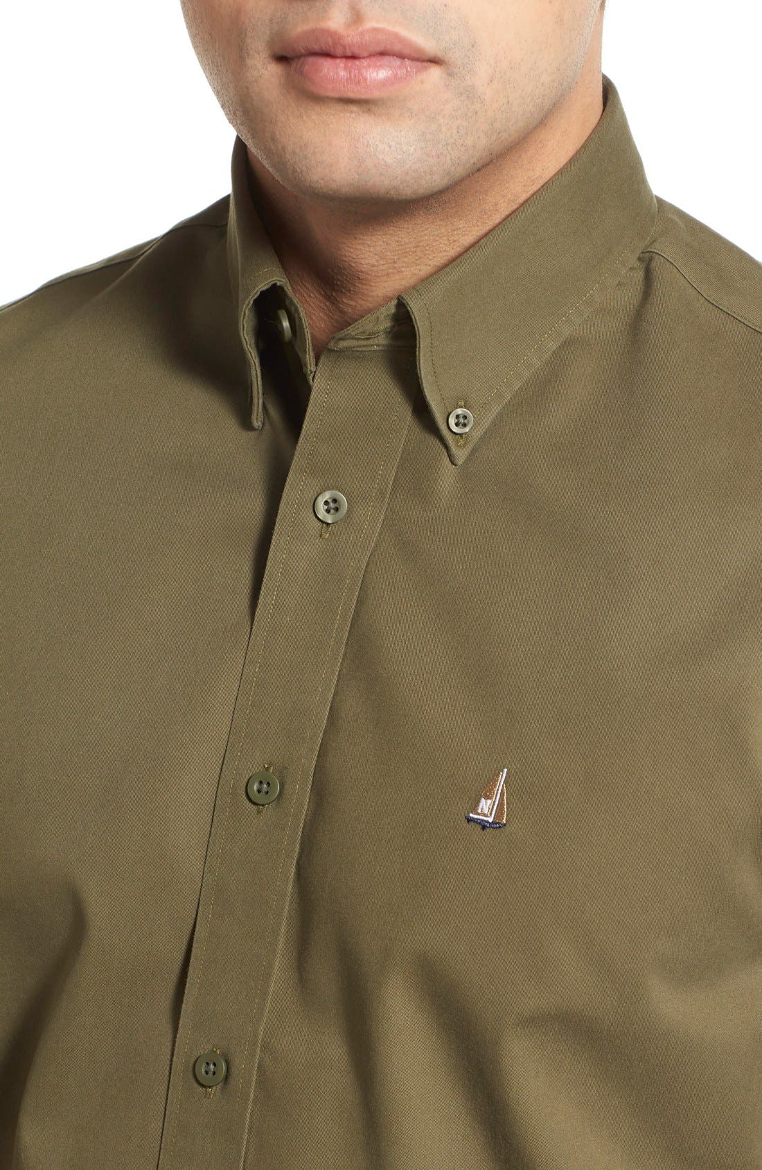 Smartcare<sup>™</sup> Traditional Fit Twill Boat Shirt,                             Alternate thumbnail 119, color,