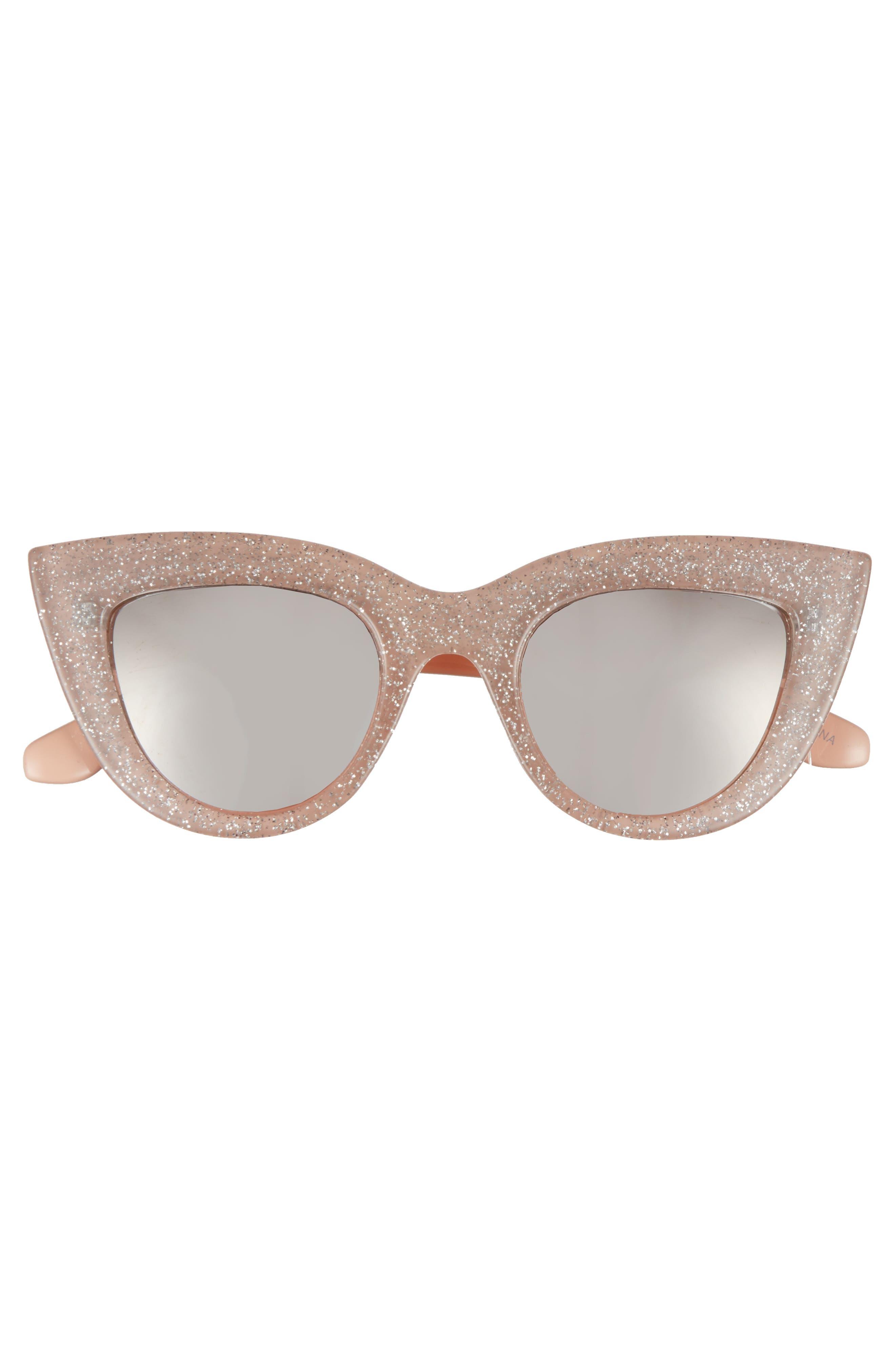 45mm Glitter Cat Eye Sunglasses,                             Alternate thumbnail 6, color,